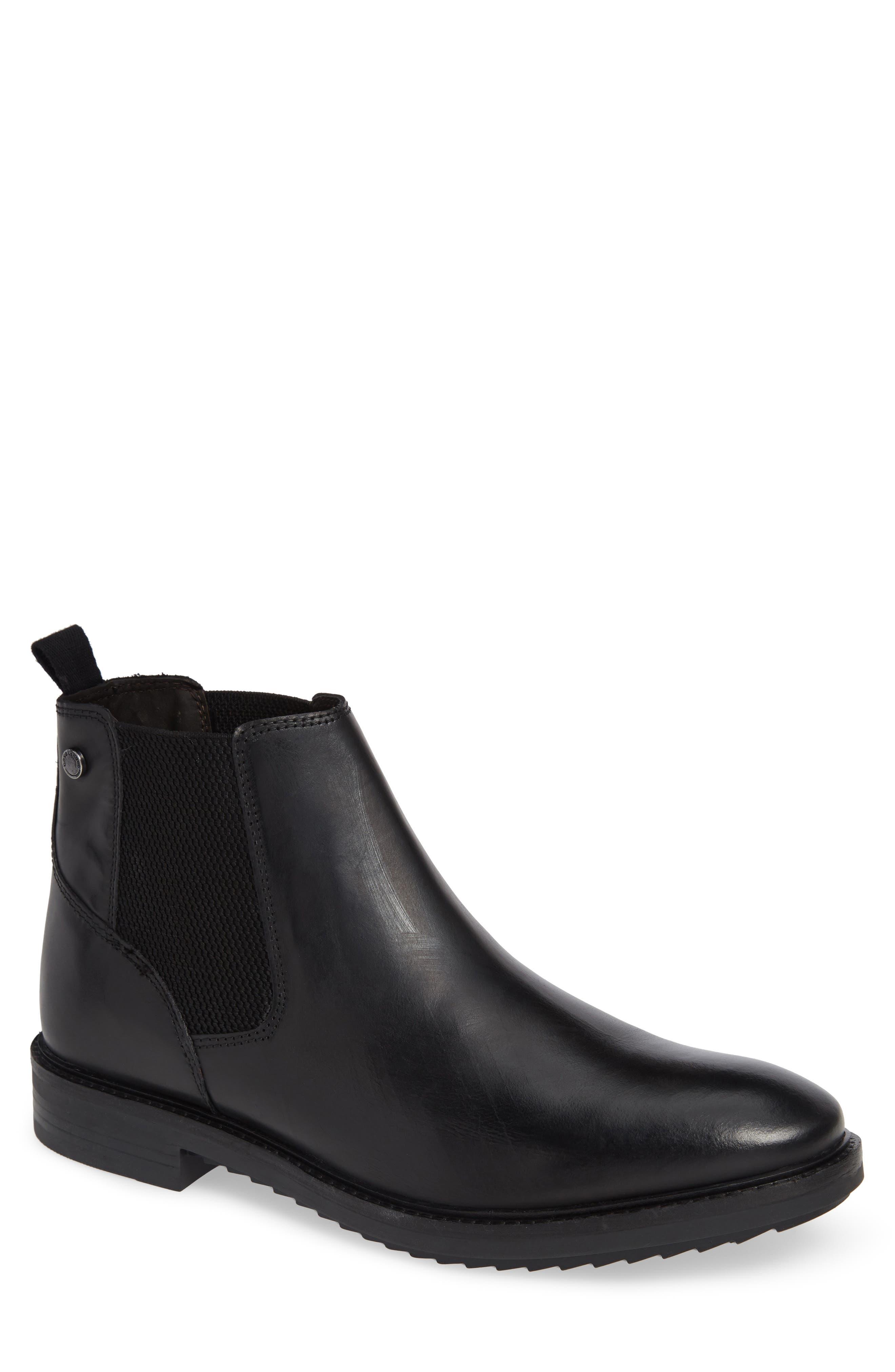 Kingsley Chelsea Boot,                         Main,                         color, BLACK