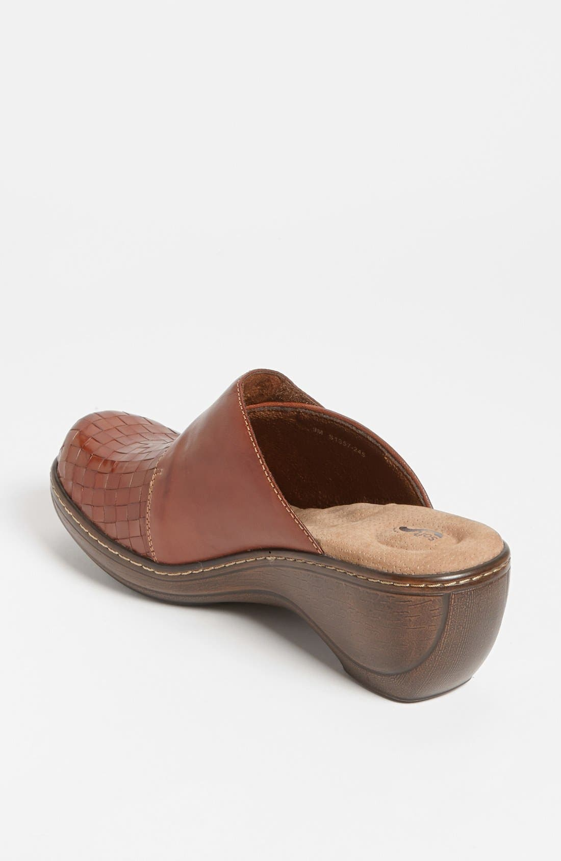 'Memphis' Clog,                             Alternate thumbnail 2, color,                             RUST BURNISHED