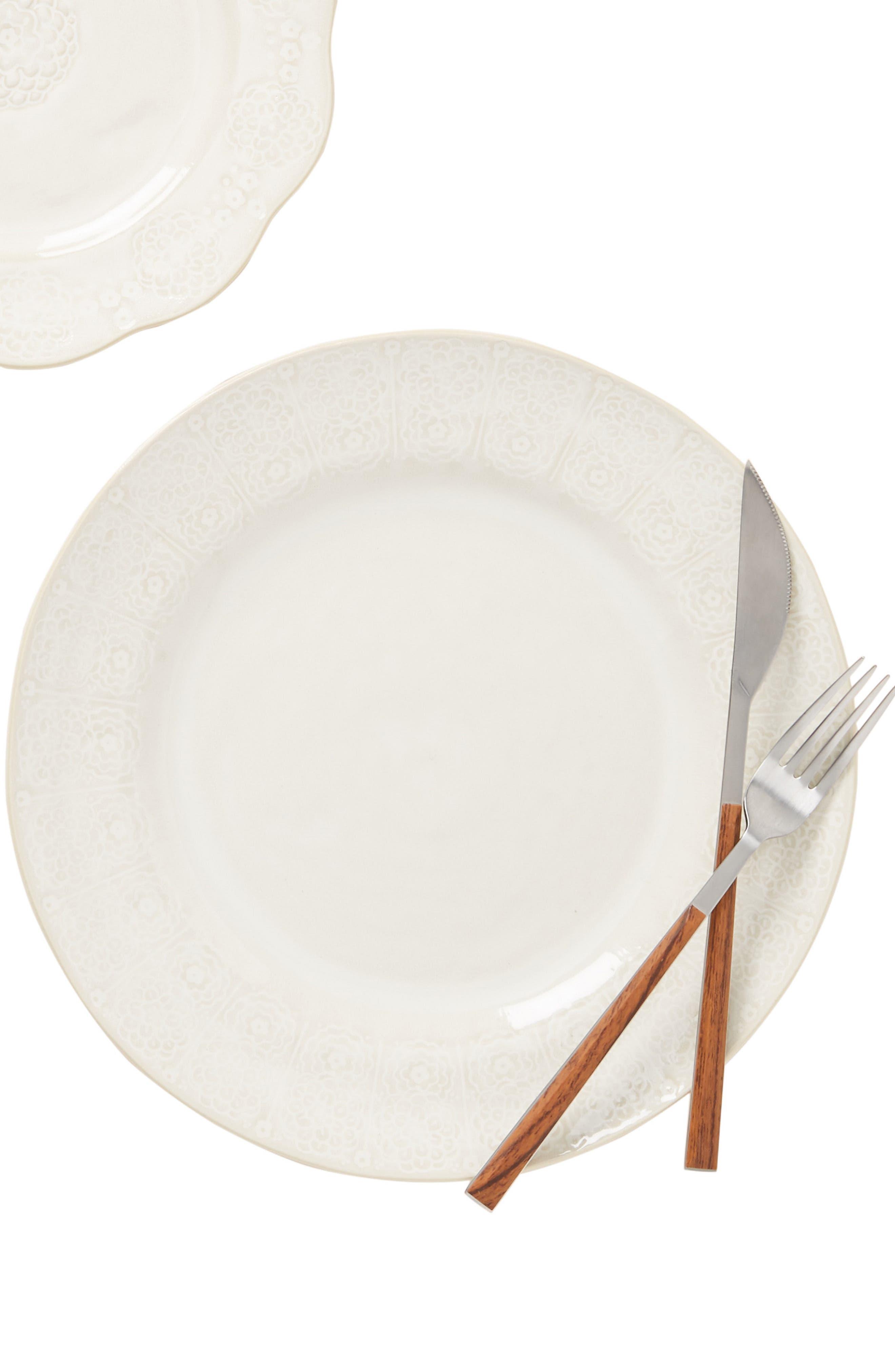 ANTHROPOLOGIE,                             Veru Dinner Plate,                             Alternate thumbnail 5, color,                             WHITE