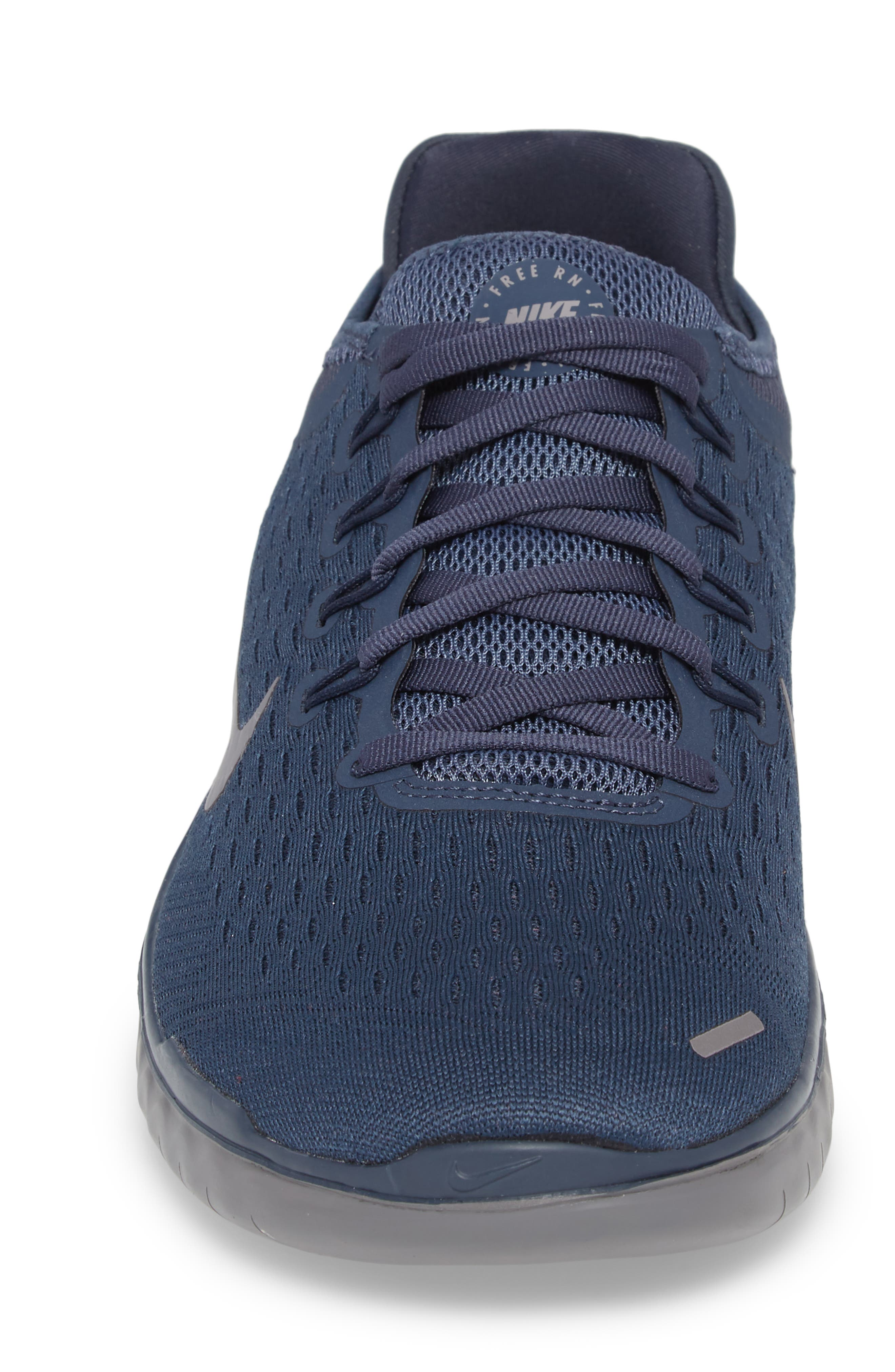 Free RN 2018 Running Shoe,                             Alternate thumbnail 4, color,                             THUNDER BLUE/ SMOKE