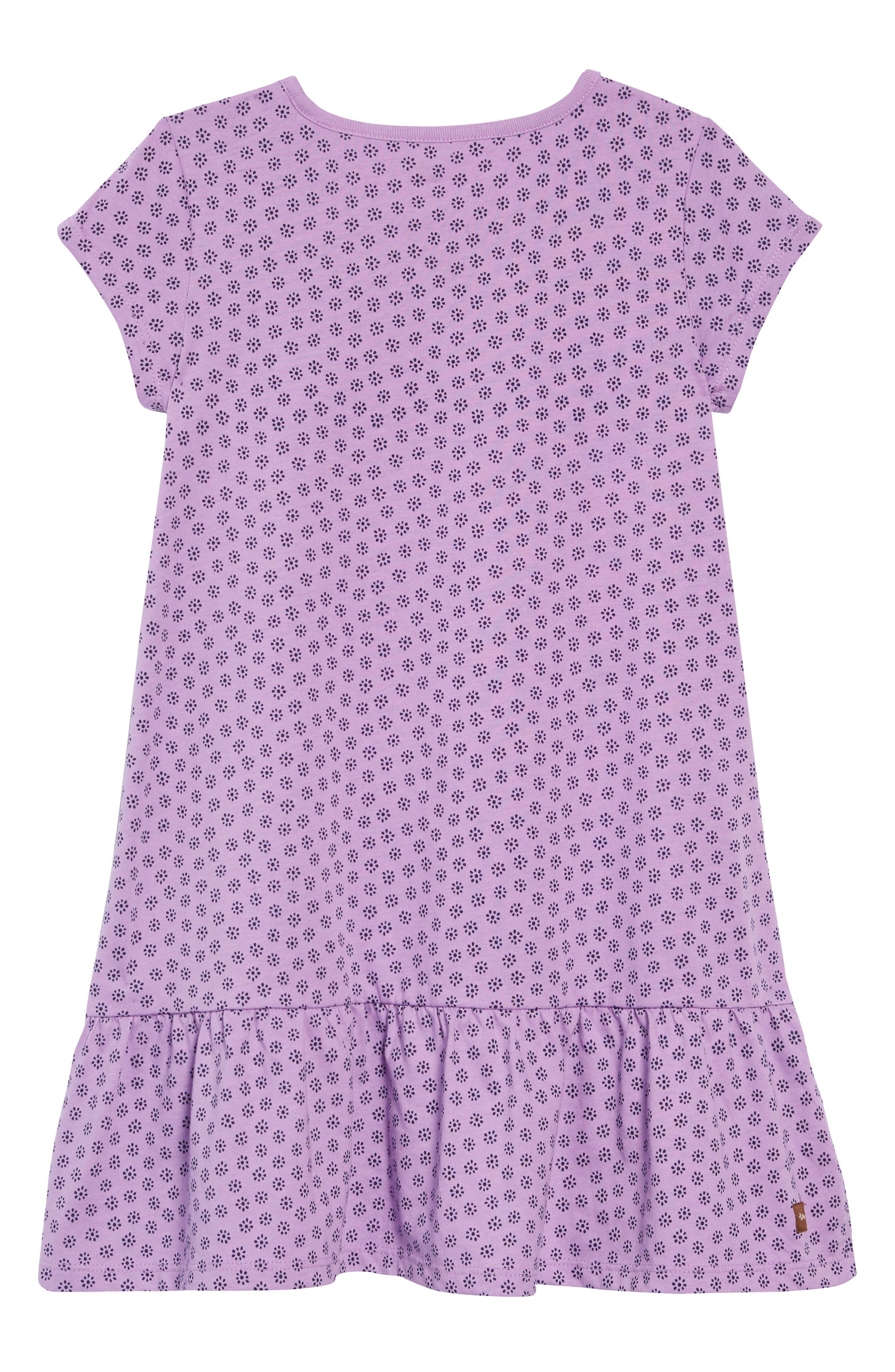 Print Ruffle Dress,                             Alternate thumbnail 2, color,                             POTTERY FLORAL