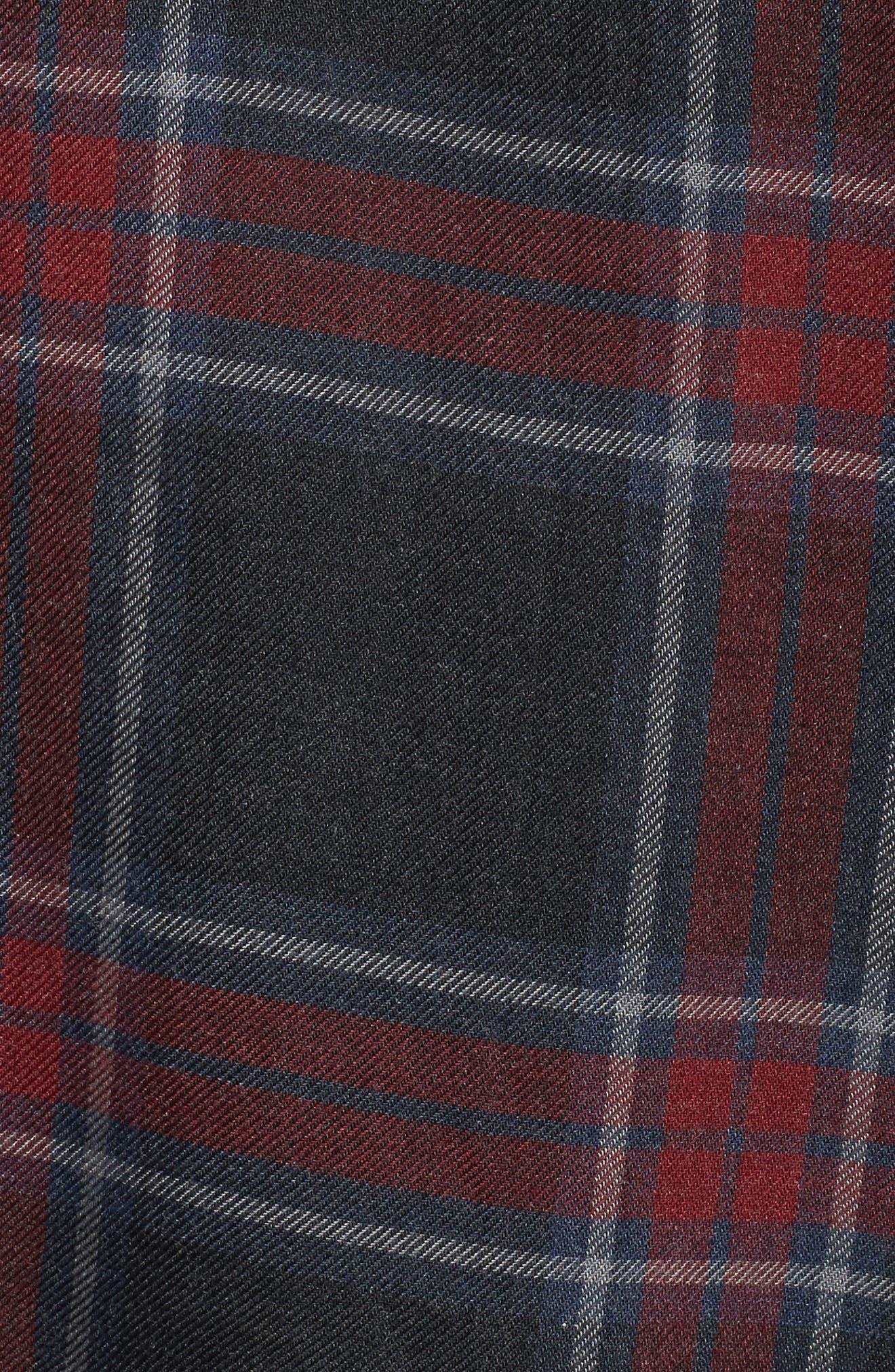 Serenade Tie Neck Plaid Top,                             Alternate thumbnail 5, color,                             023