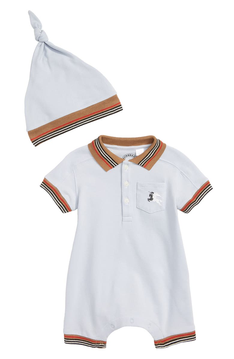df5a81f4366fb Burberry Kai Polo Romper   Hat Set (Baby Boys)