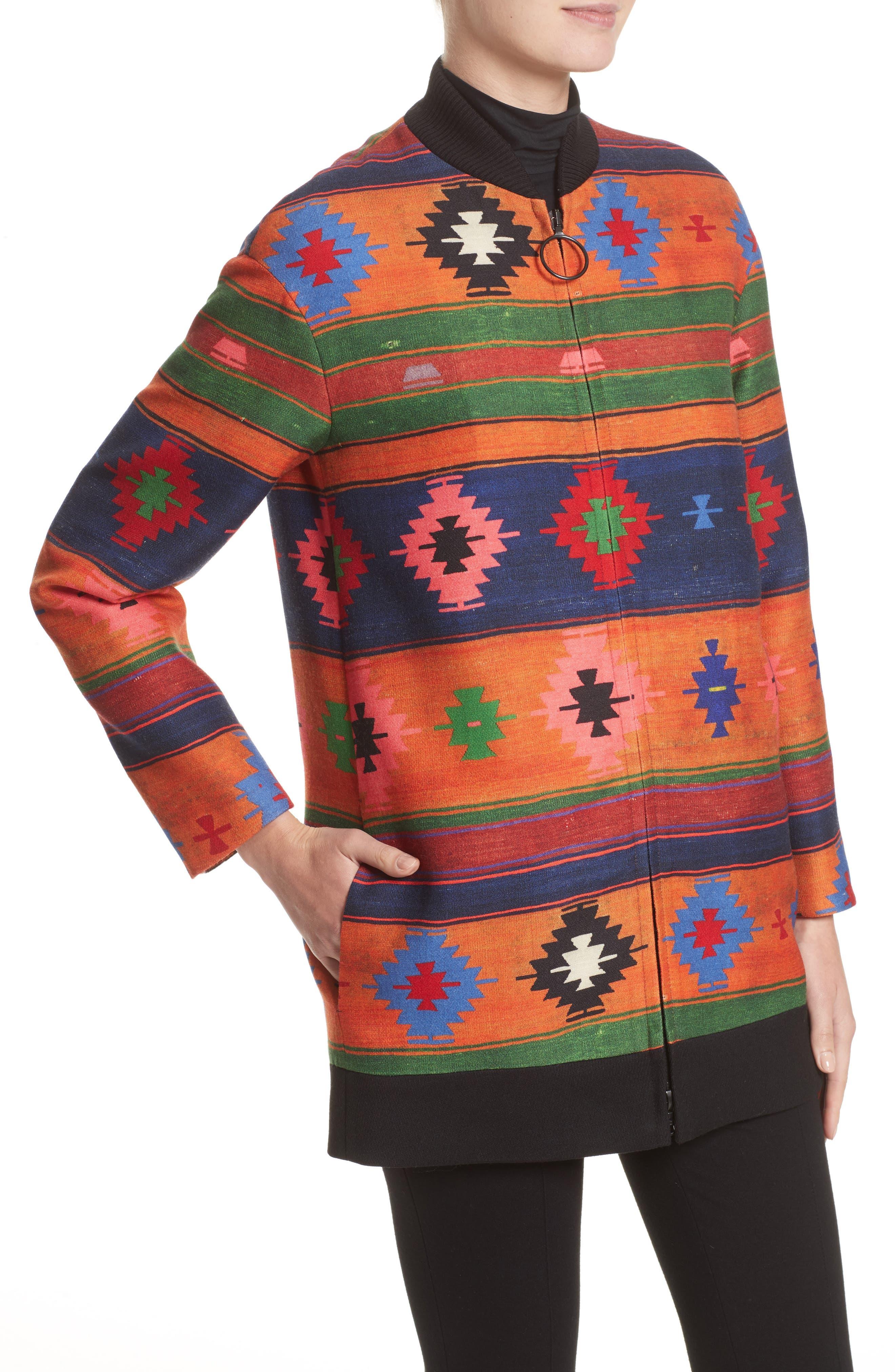 Wool Bomber Jacket,                             Alternate thumbnail 4, color,                             800