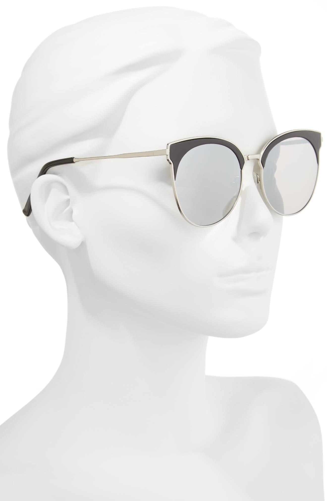 Mia Bella 56mm Sunglasses,                             Alternate thumbnail 2, color,                             001