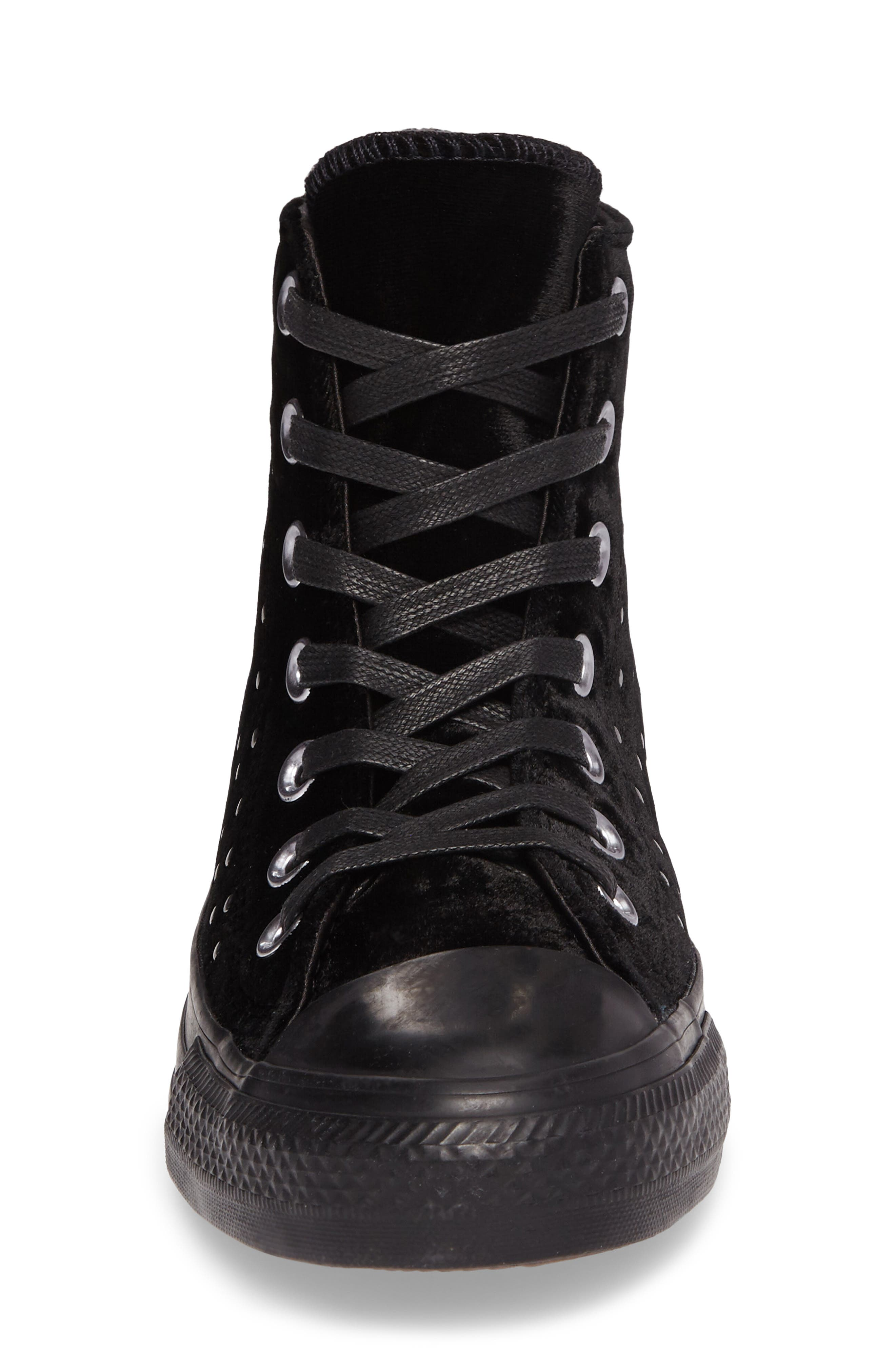 Chuck Taylor<sup>®</sup> All Star<sup>®</sup> Studded High Top Sneakers,                             Alternate thumbnail 4, color,                             001