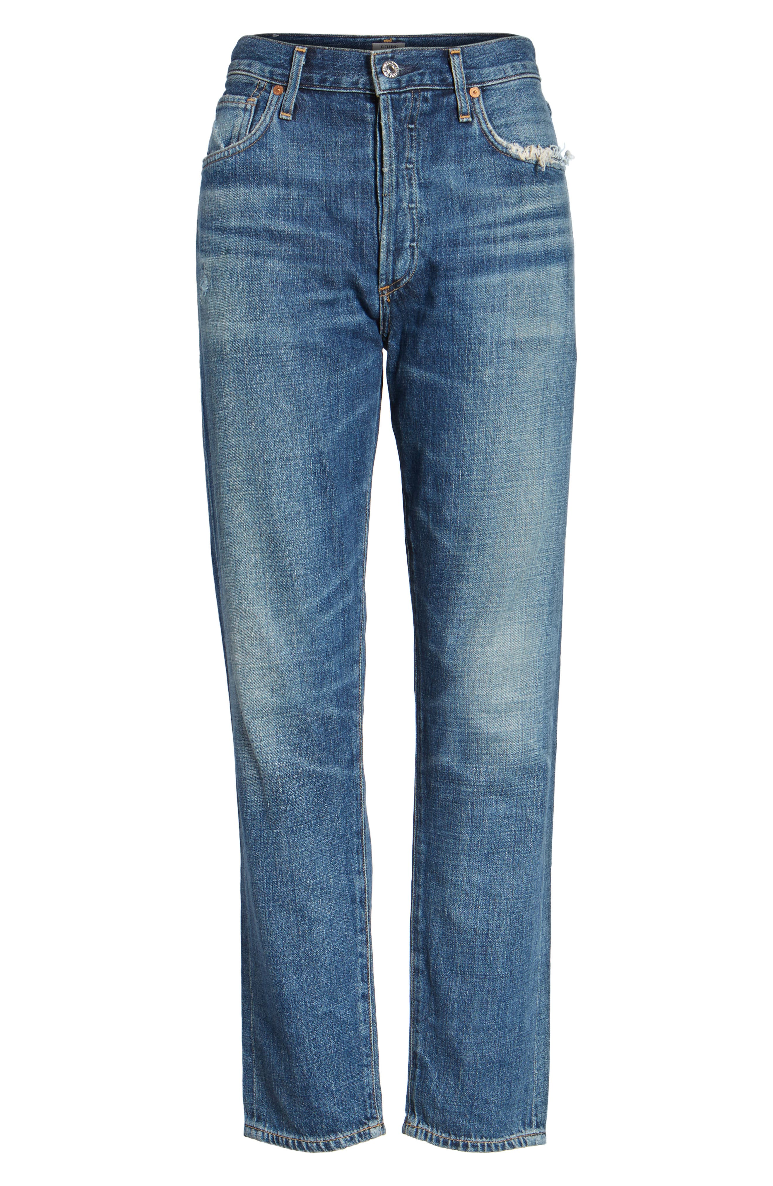 Liya High Waist Slim Boyfriend Jeans,                             Main thumbnail 1, color,                             426