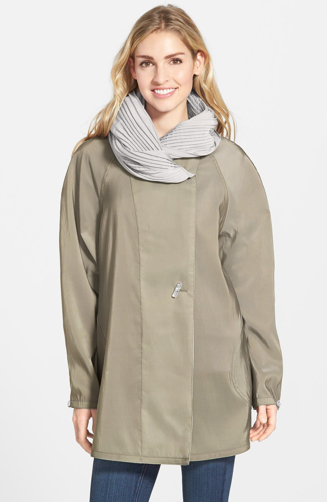 'Mini Donatella' Reversible Pleat Hood Packable Travel Coat,                             Alternate thumbnail 49, color,