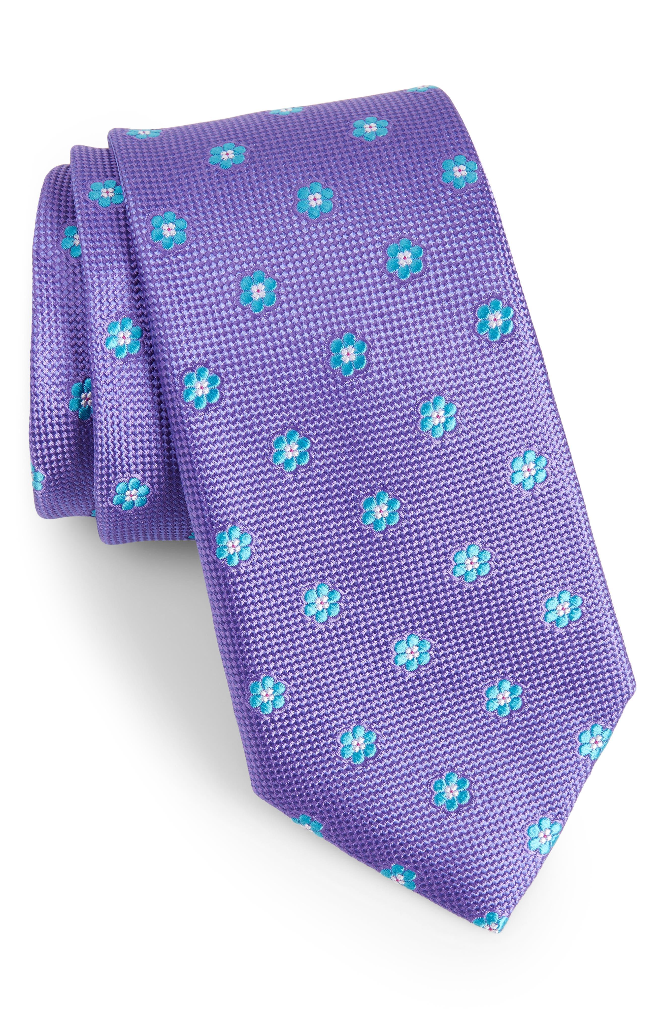 Calibrate Cloisters Neat Silk Tie,                             Main thumbnail 5, color,