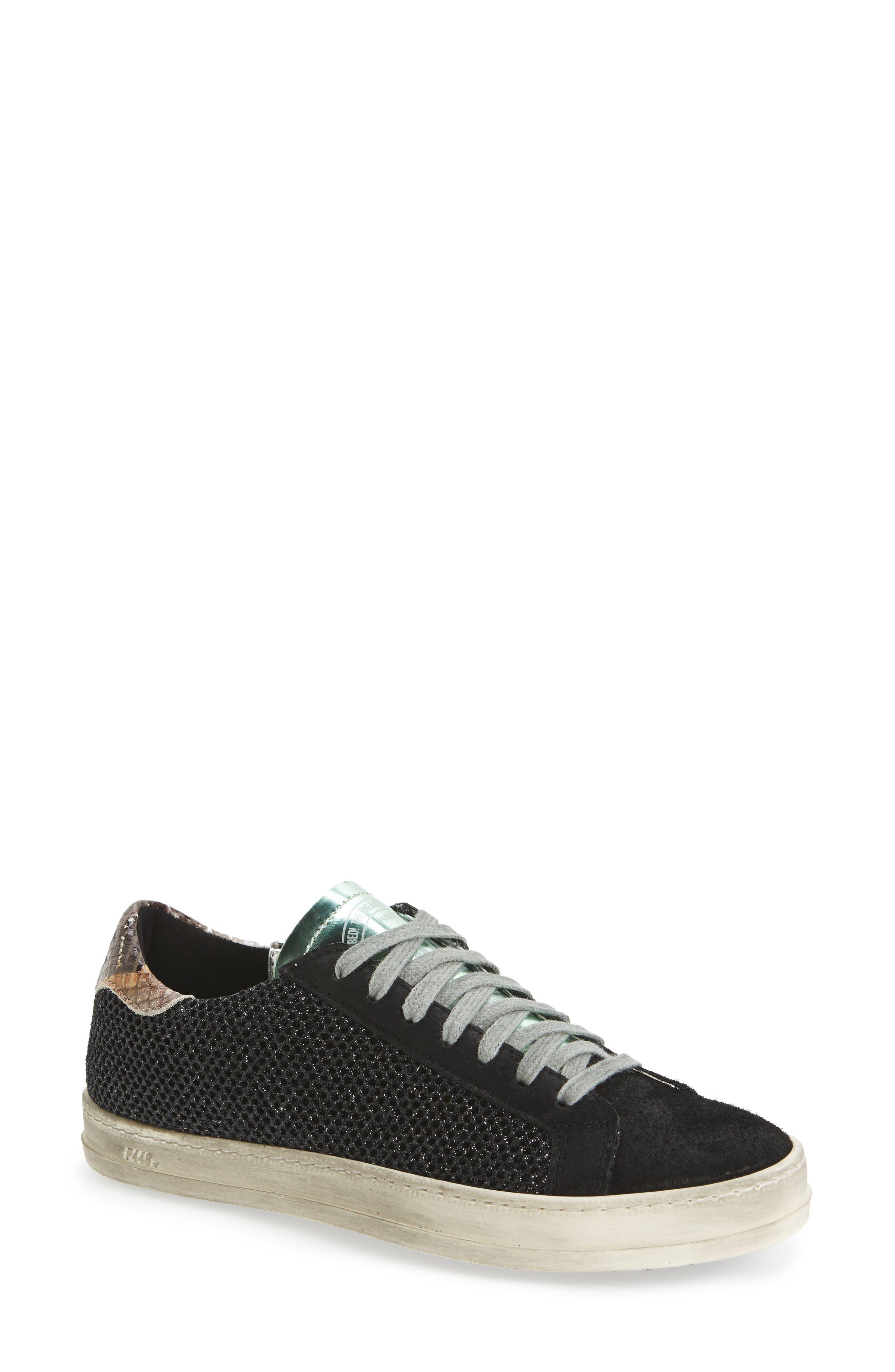 John Sneaker,                             Main thumbnail 1, color,                             GLITTER TECHNICAL MESH