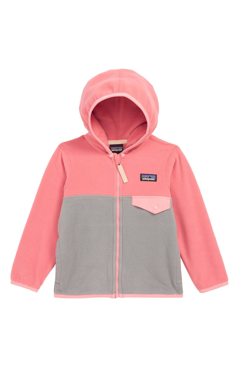 18672f23e0b7 Patagonia  Micro D® Snap-T®  Hooded Fleece Jacket (Toddler Girls ...