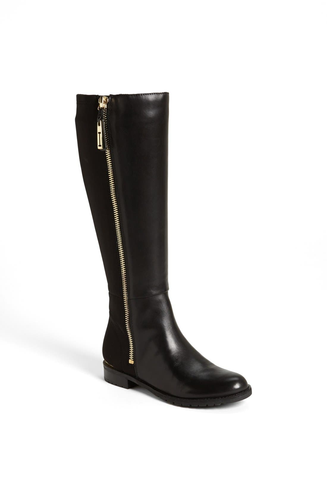 'Arno' Lycra<sup>®</sup> Stretch Boot,                             Main thumbnail 1, color,                             001