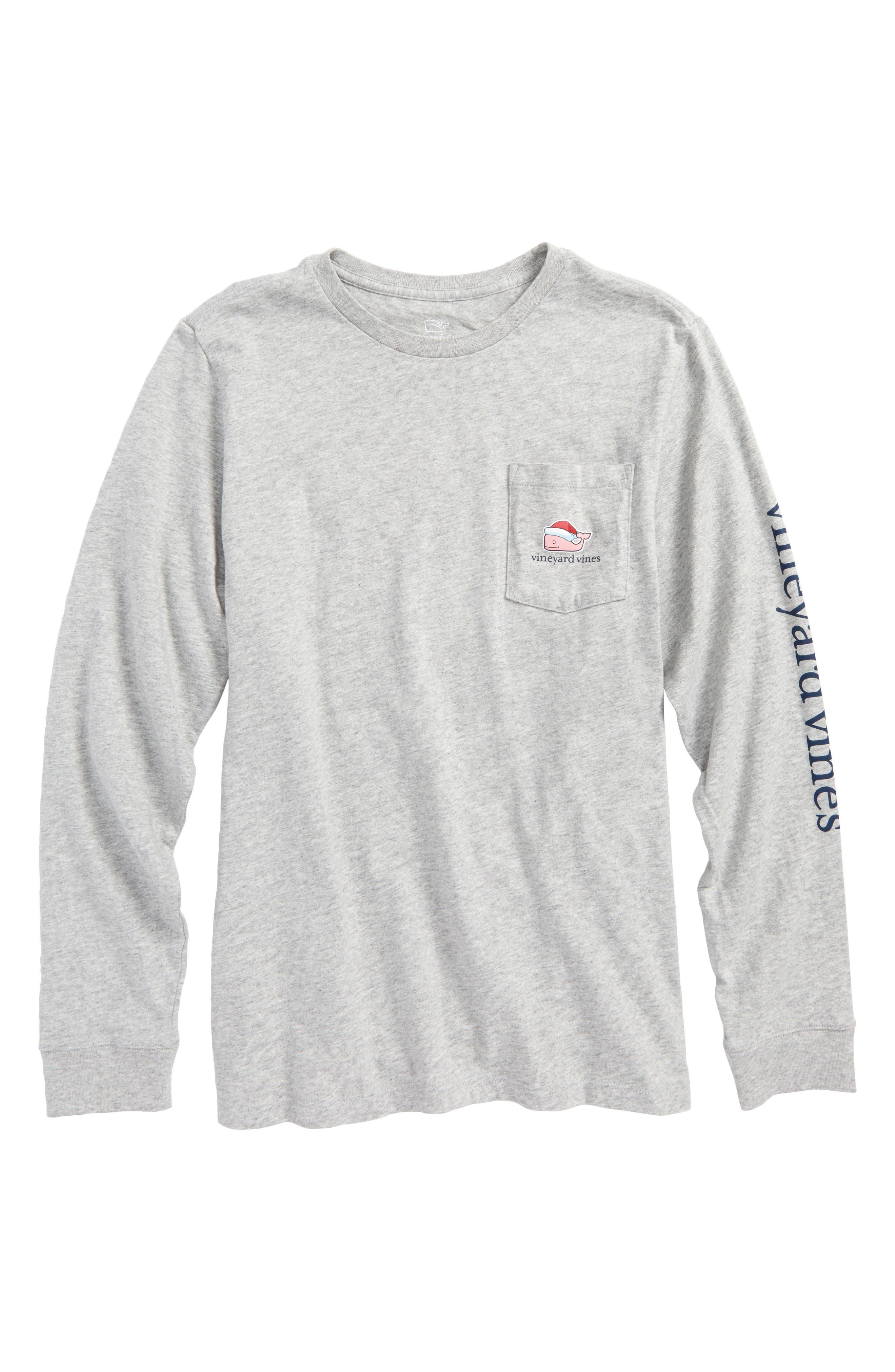 Santa Whale Happy Holidays 2017 T-Shirt,                         Main,                         color, 039