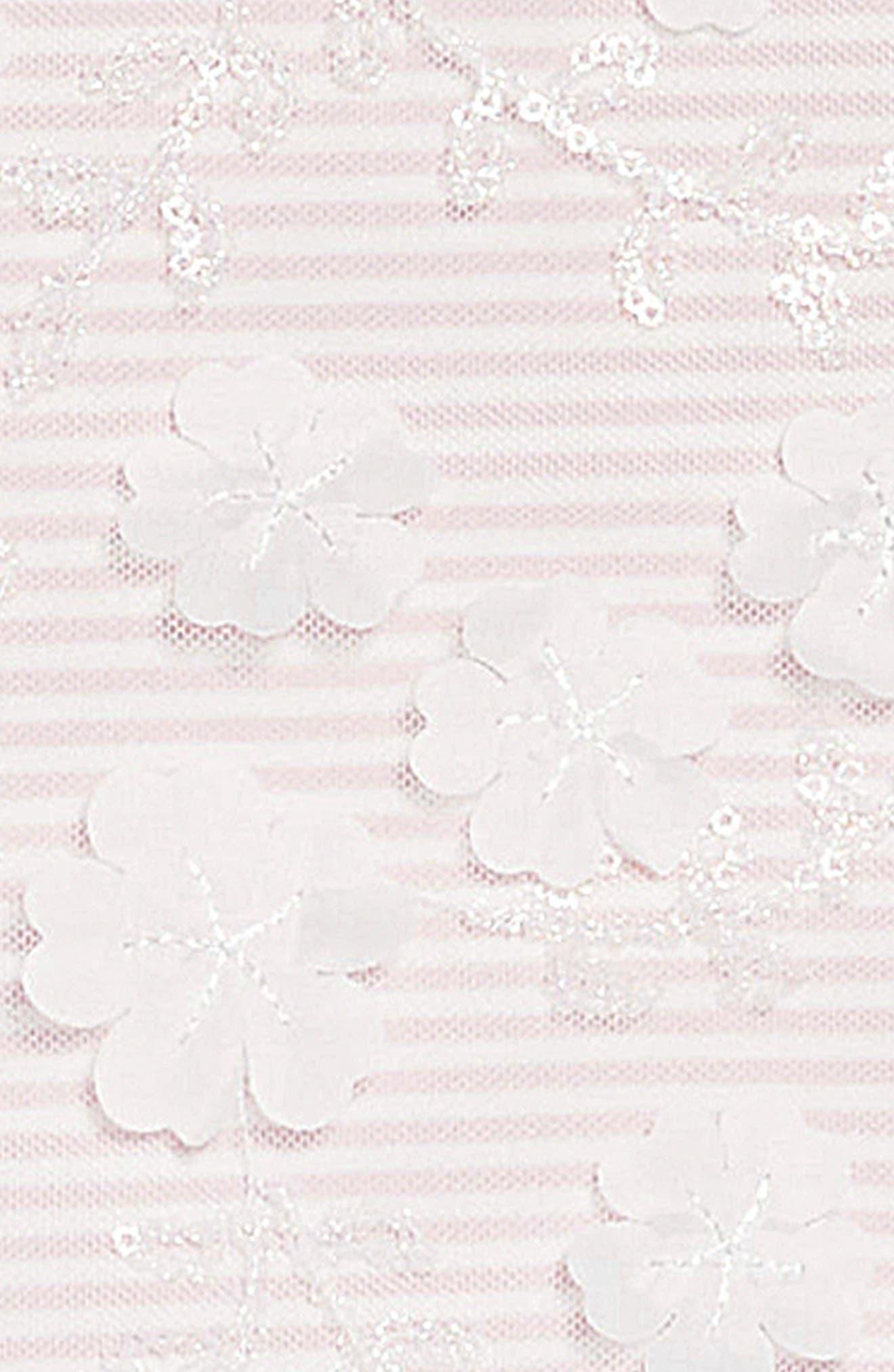 Embellished Bodice Dress,                             Alternate thumbnail 3, color,                             PINK/ WHITE