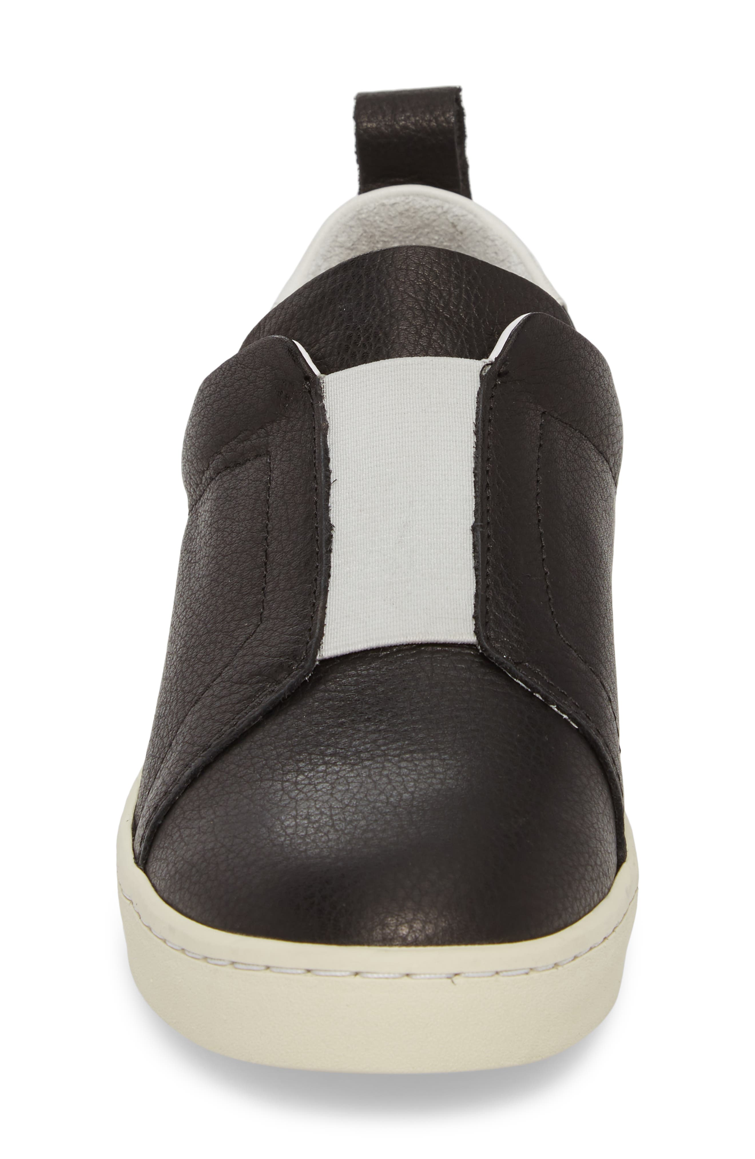 Mutt Slip-On Sneaker,                             Alternate thumbnail 4, color,                             BLACK BRITO LEATHER