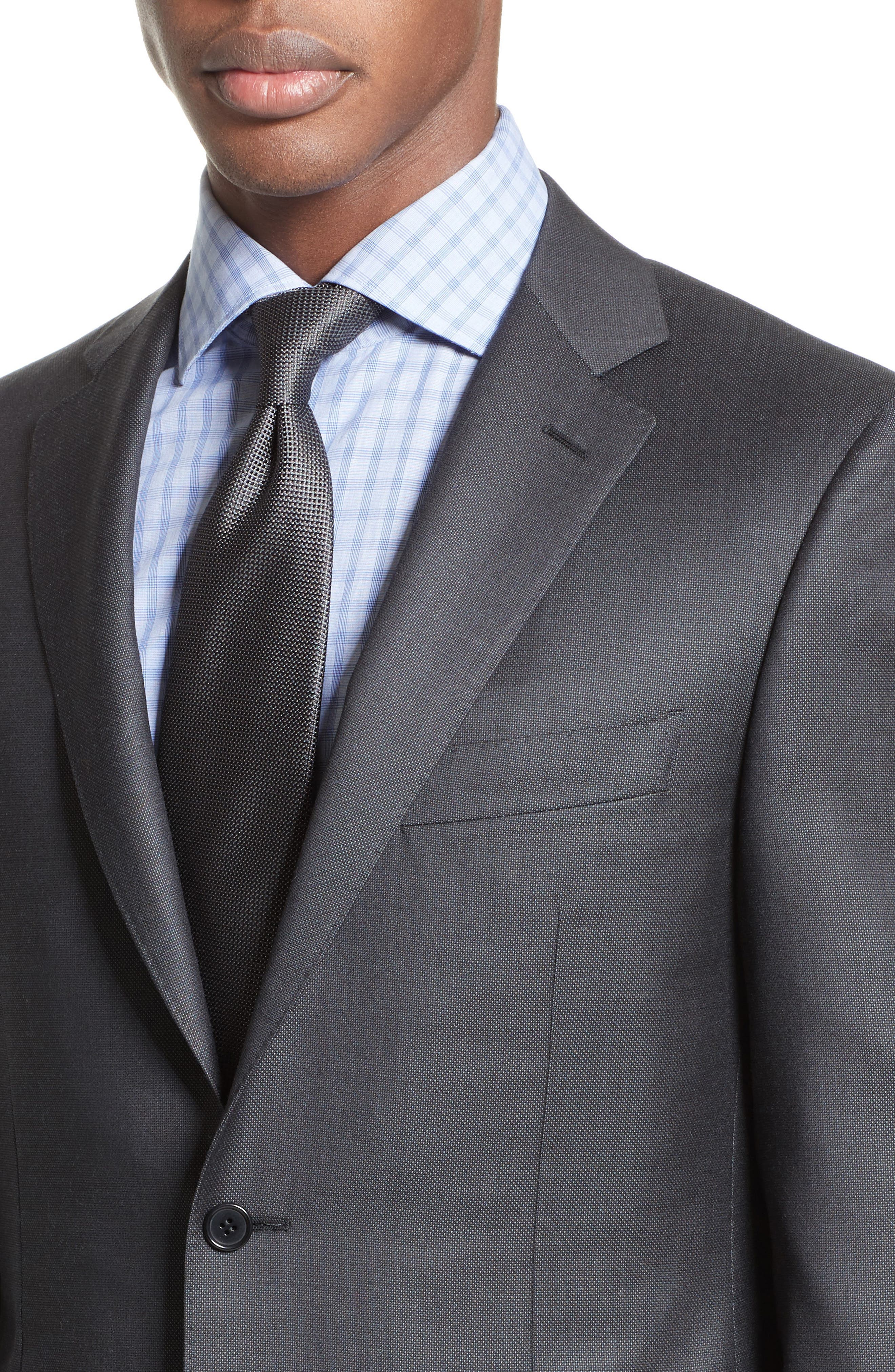 Classic Fit Solid Wool Suit,                             Alternate thumbnail 4, color,                             020