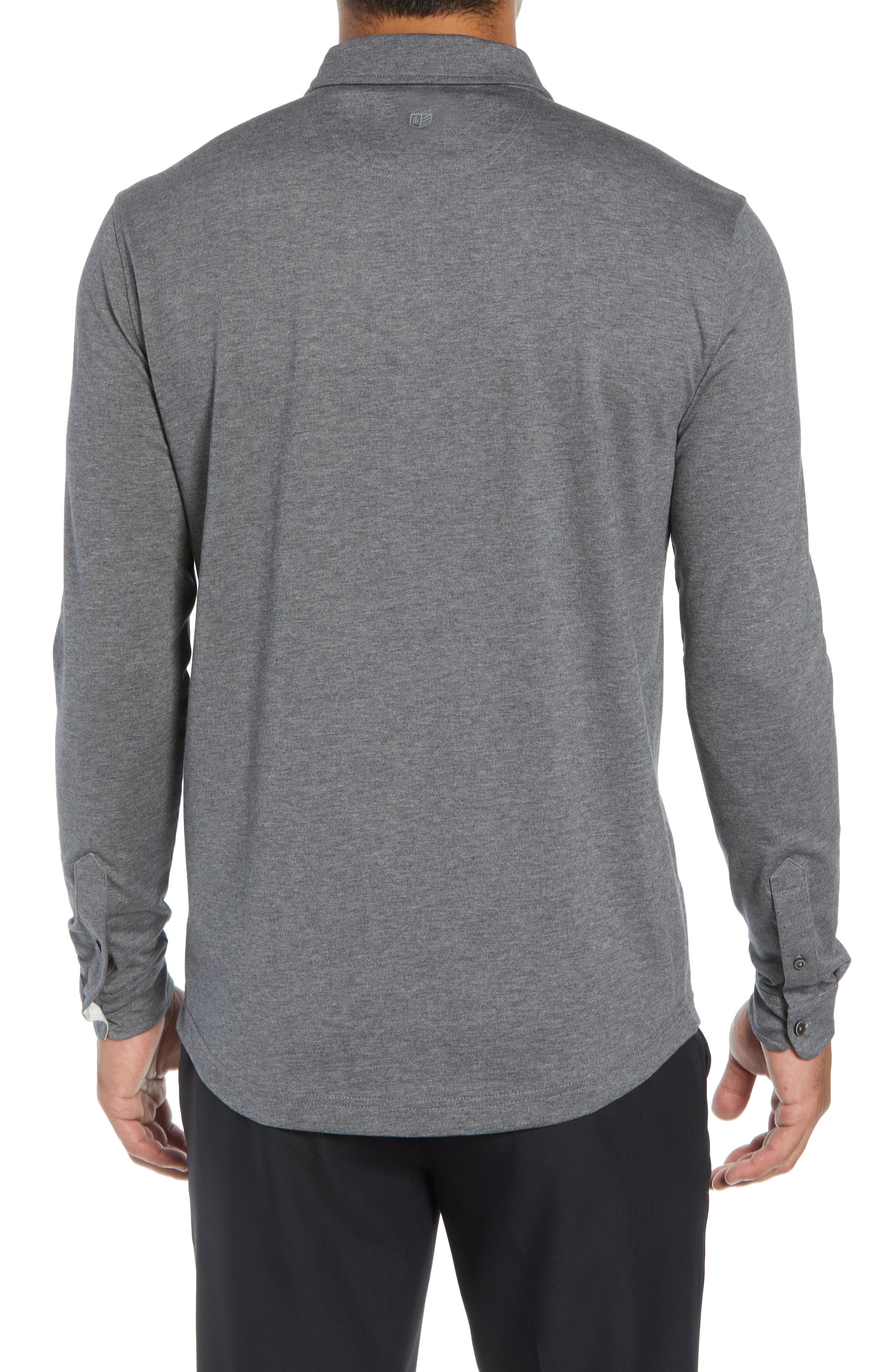 Rule 18 Brushed Regular Fit Knit Sport Shirt,                             Alternate thumbnail 2, color,                             020