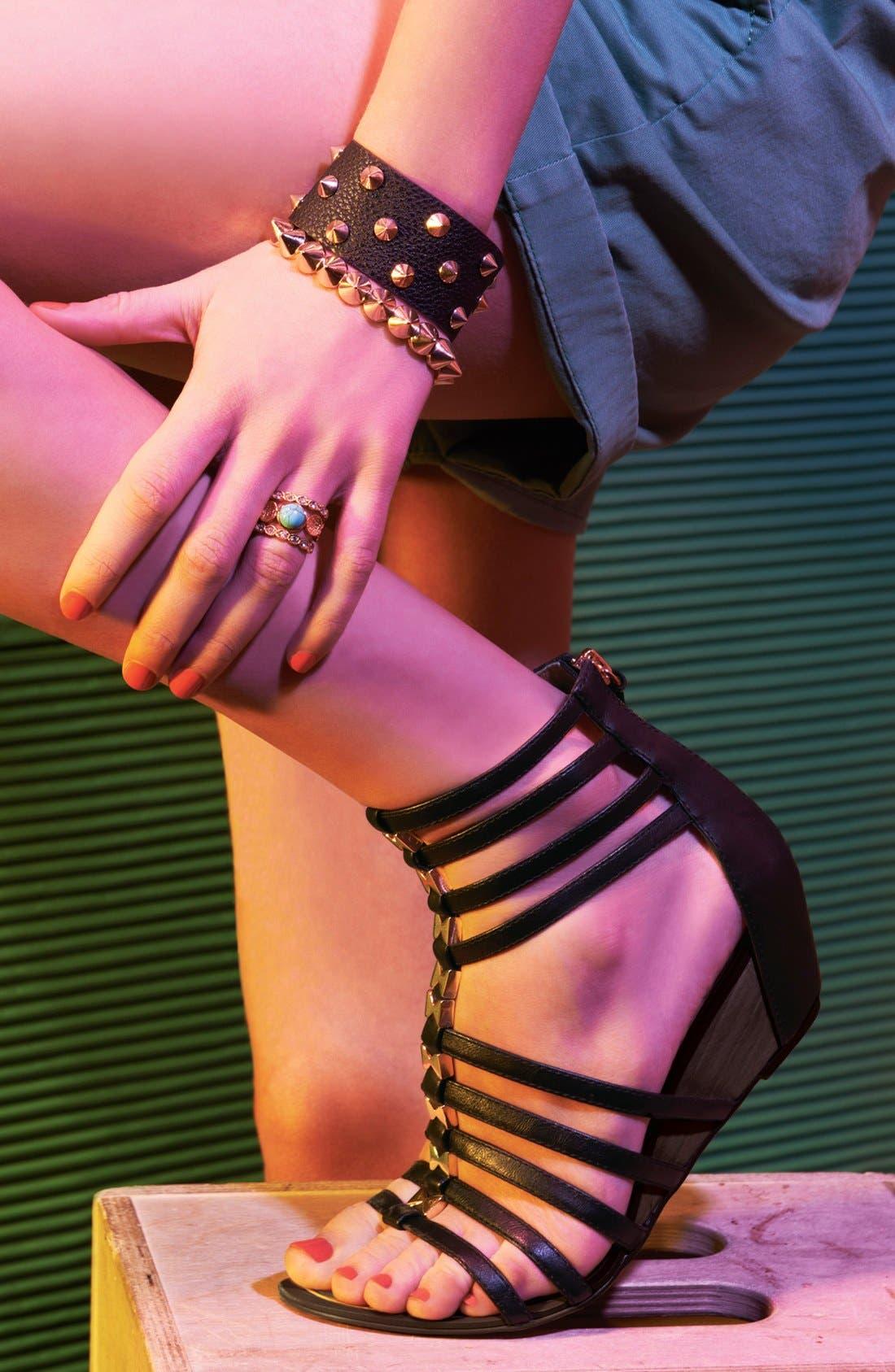 REPORT SIGNATURE,                             'Meliza' Sandal,                             Alternate thumbnail 6, color,                             001