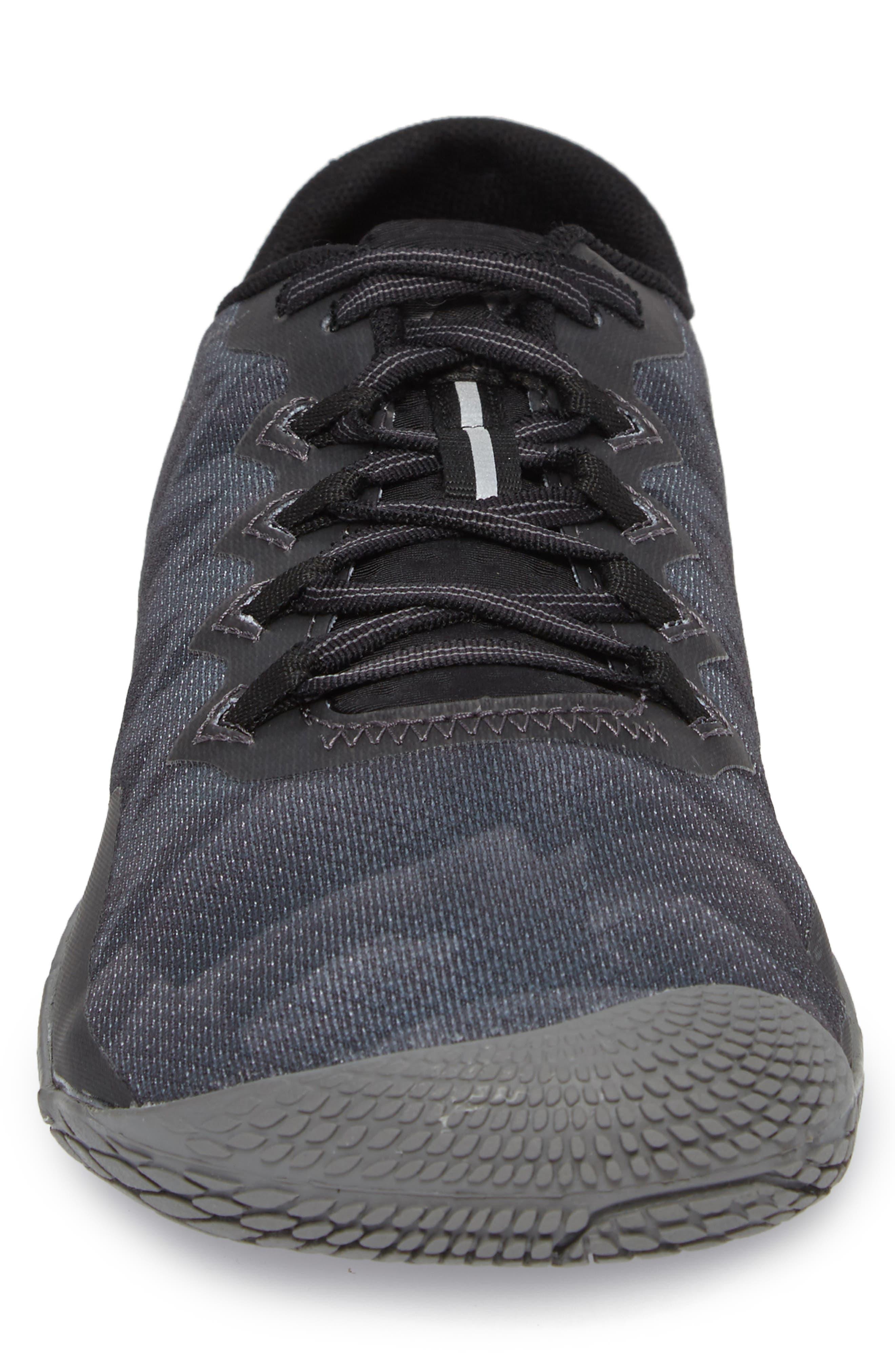 Vapor Glove 3 Trail Running Shoe,                             Alternate thumbnail 4, color,                             BLACK/ SILVER