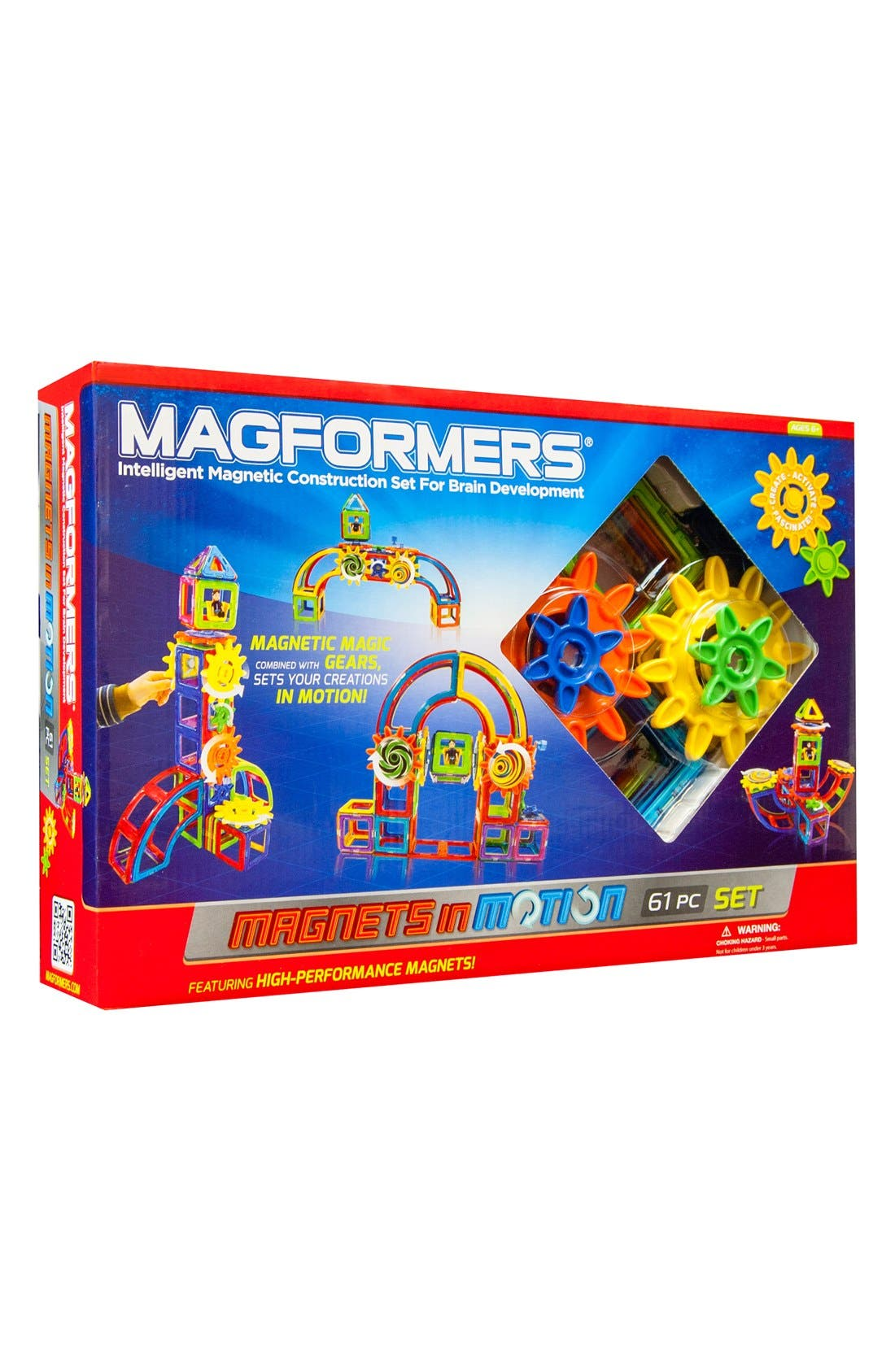 'Magnets in Motion' Construction Set,                             Main thumbnail 1, color,                             MULTI