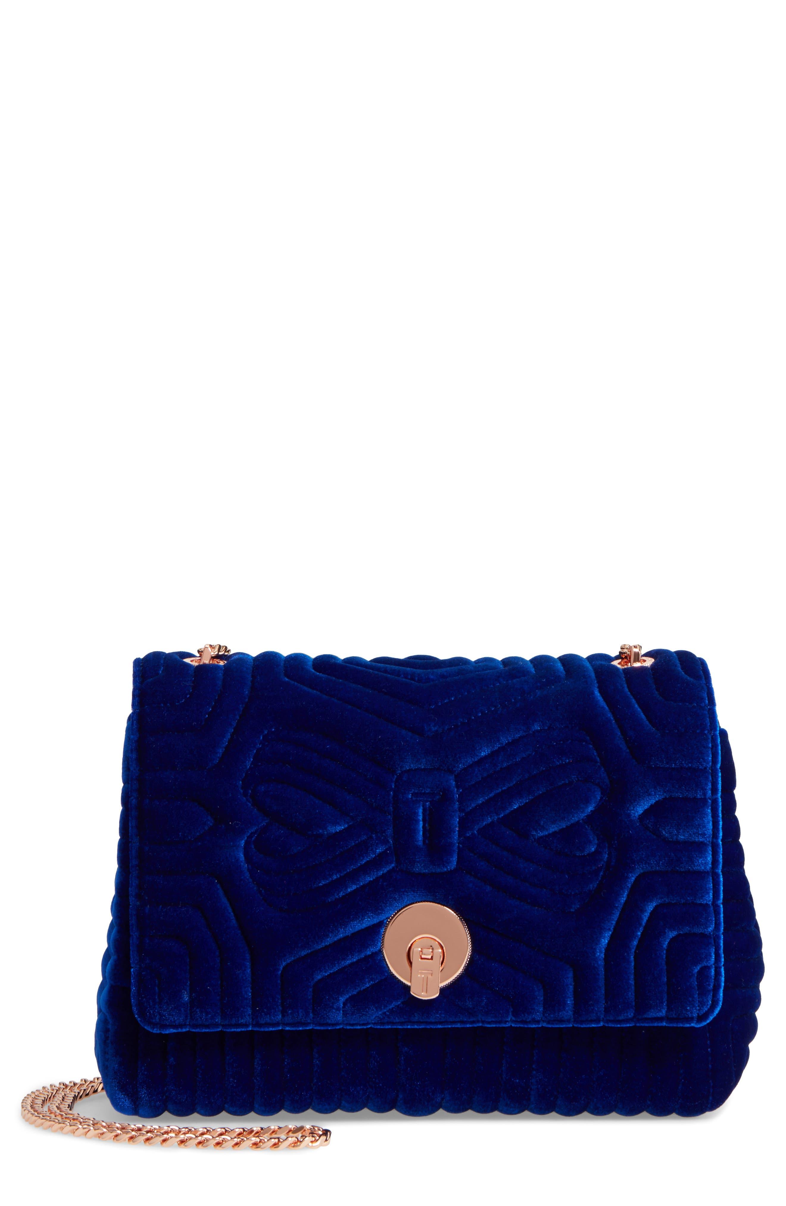 Quilted Velvet Crossbody Bag,                             Main thumbnail 2, color,