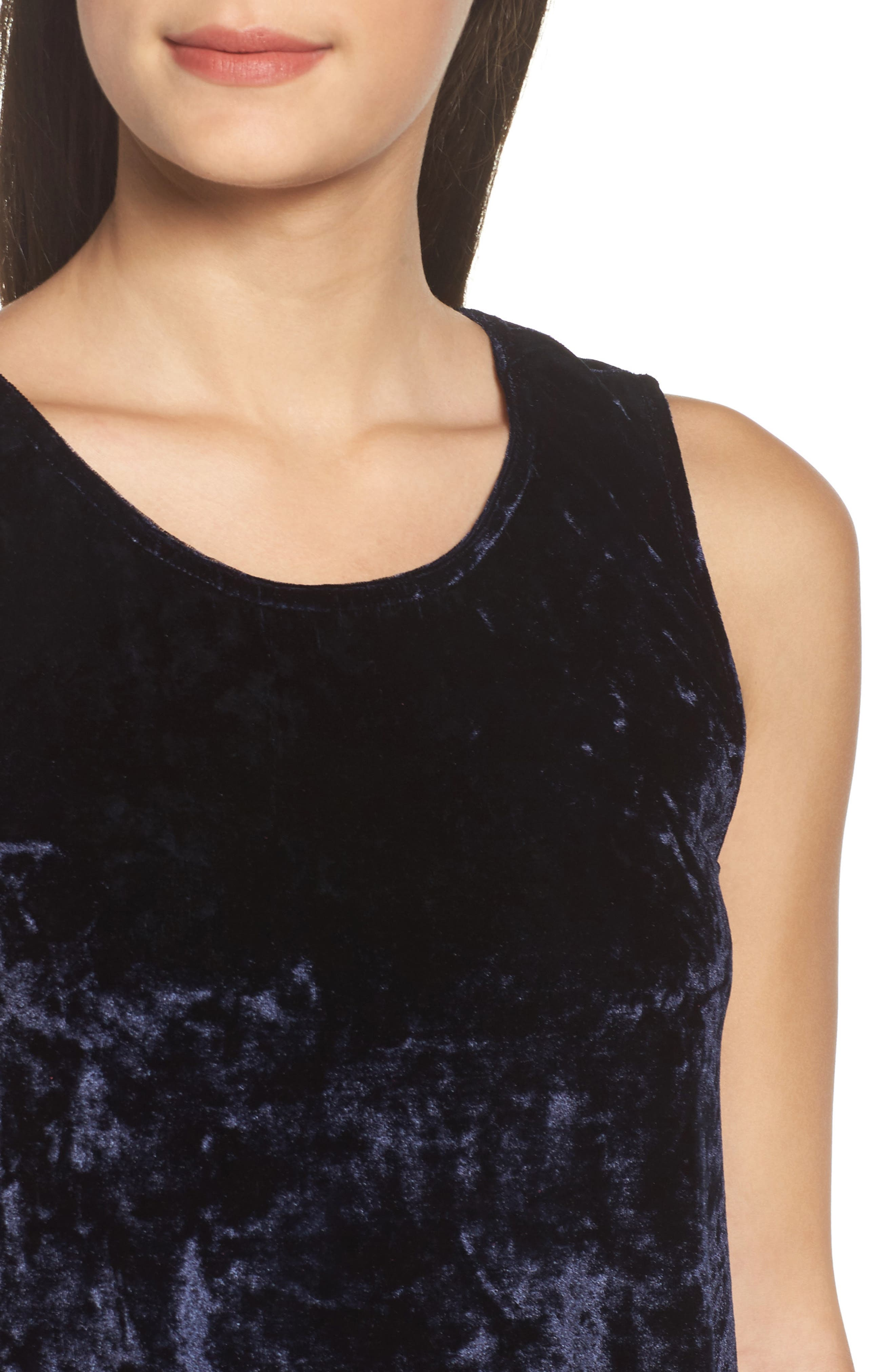 Crushed Velvet Shift Dress,                             Alternate thumbnail 4, color,                             018