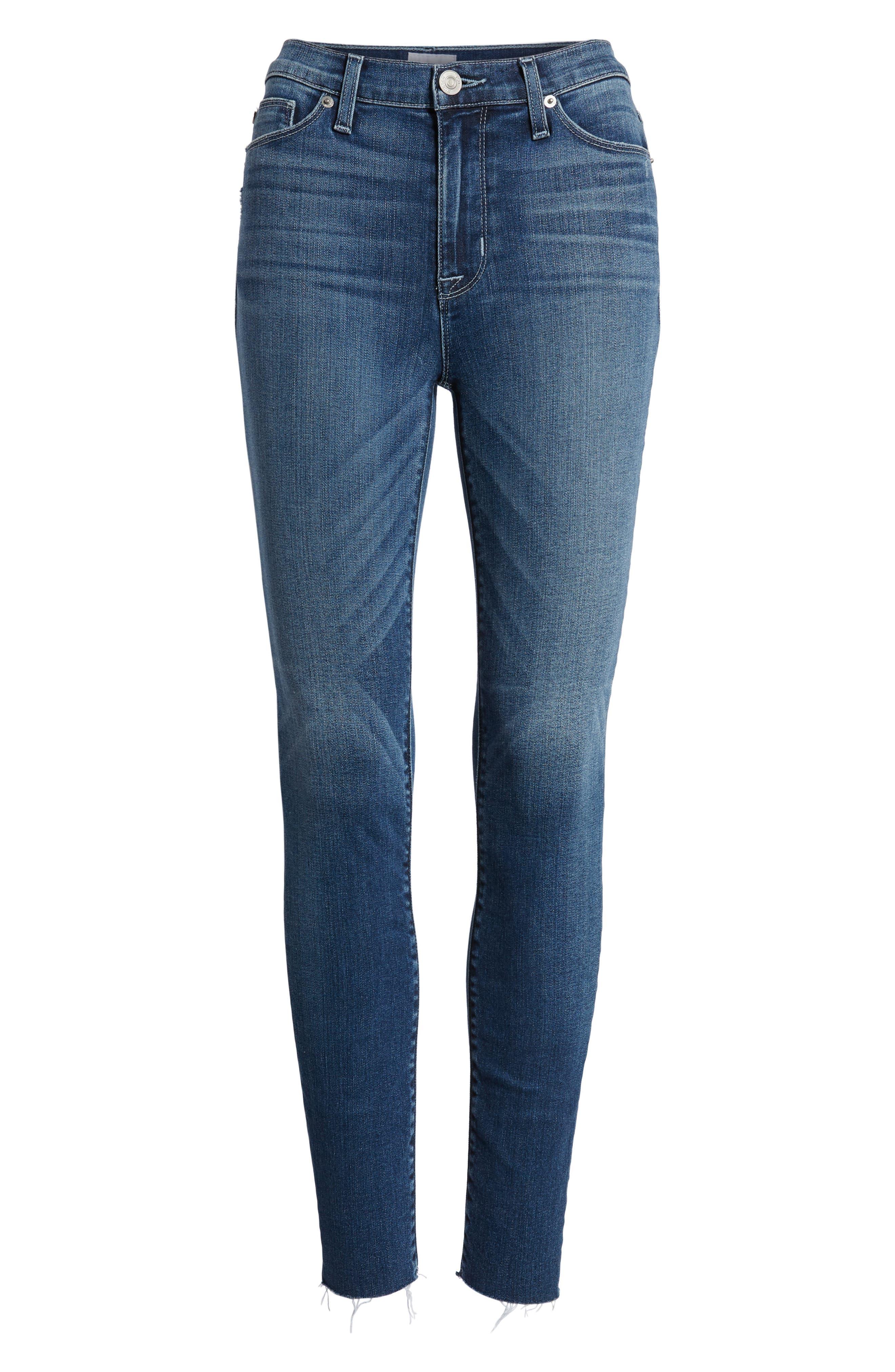 Hudson Barbara High Waist Ankle Skinny Jeans,                             Alternate thumbnail 7, color,                             CONTENDER