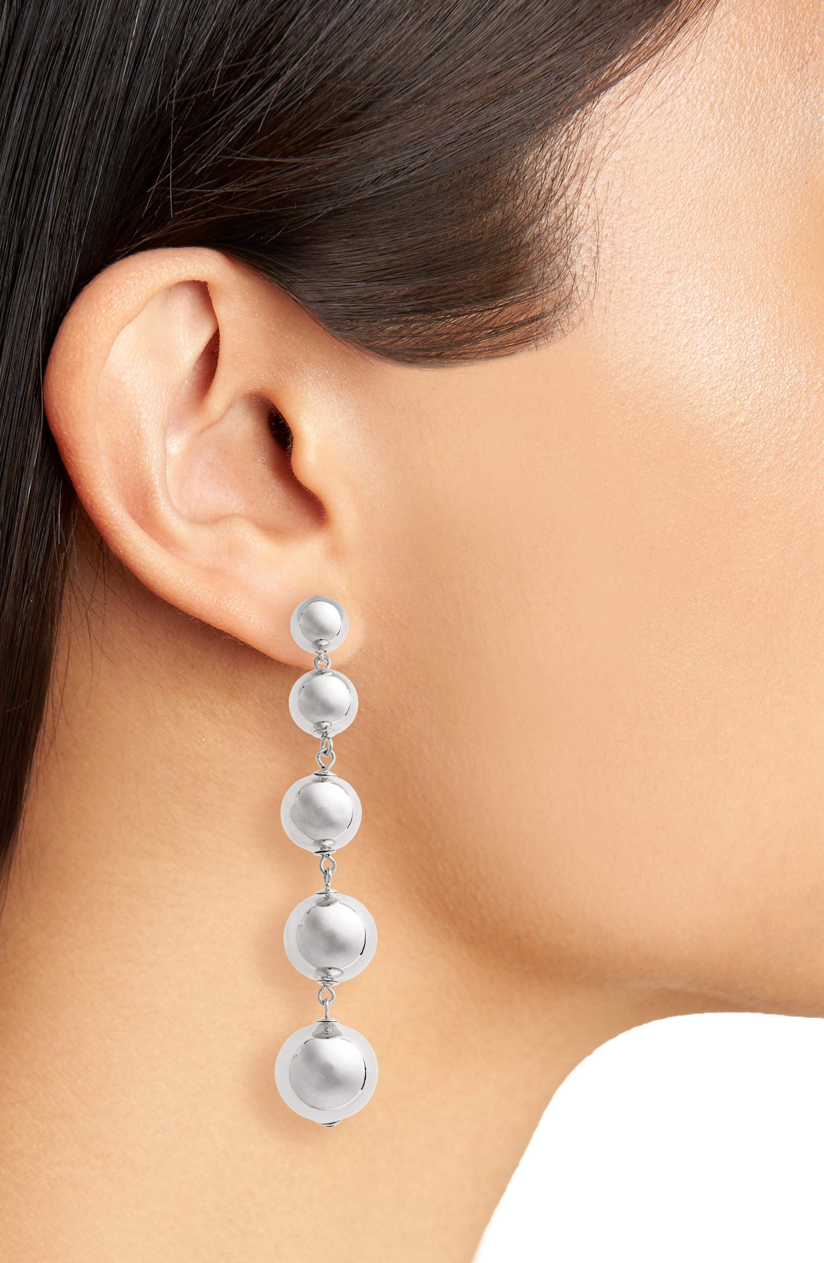 linear statement earrings,                             Alternate thumbnail 2, color,                             040