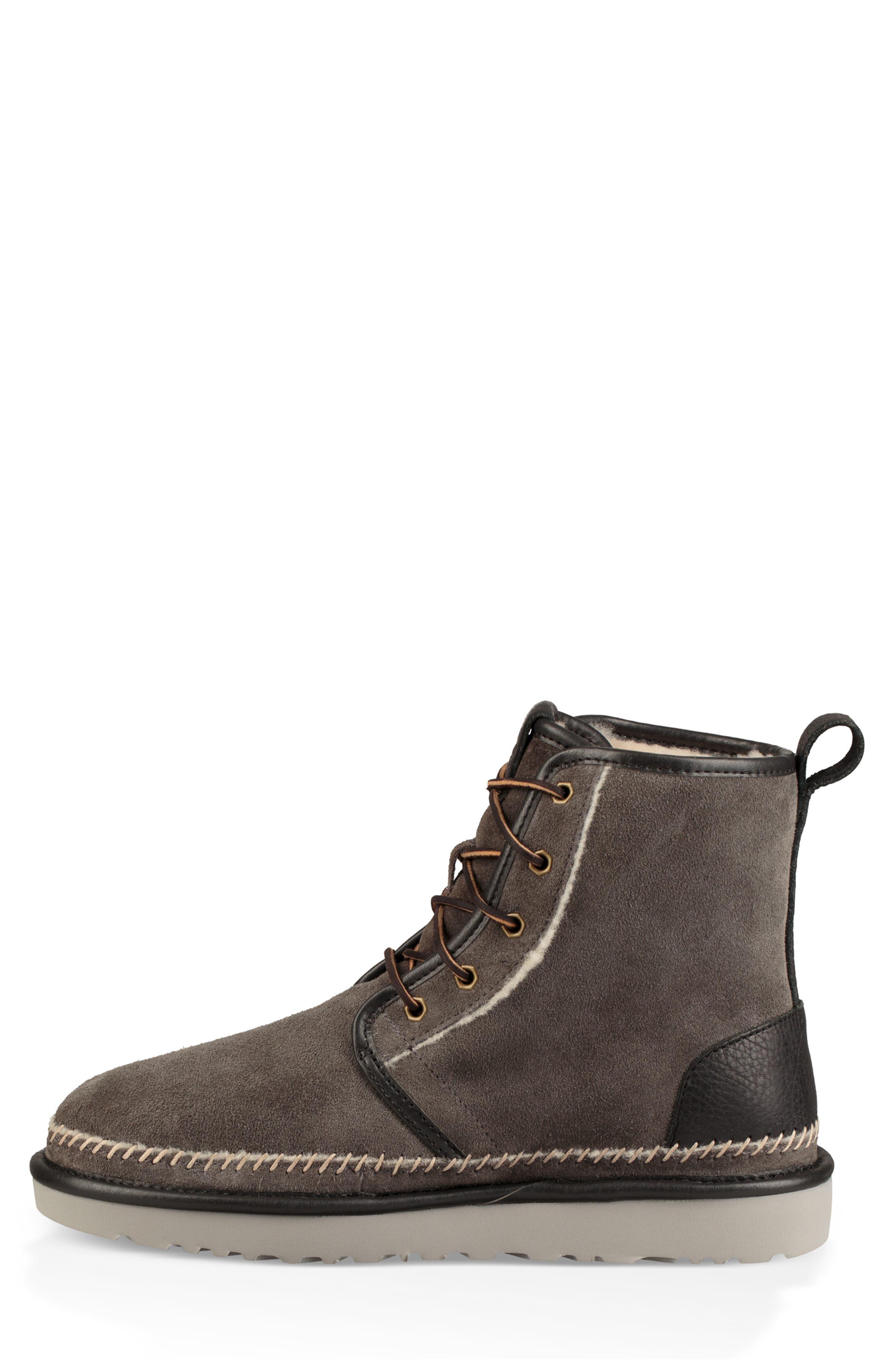 Harkley Stitch Plain Toe Boot,                             Alternate thumbnail 6, color,                             DARK GREY