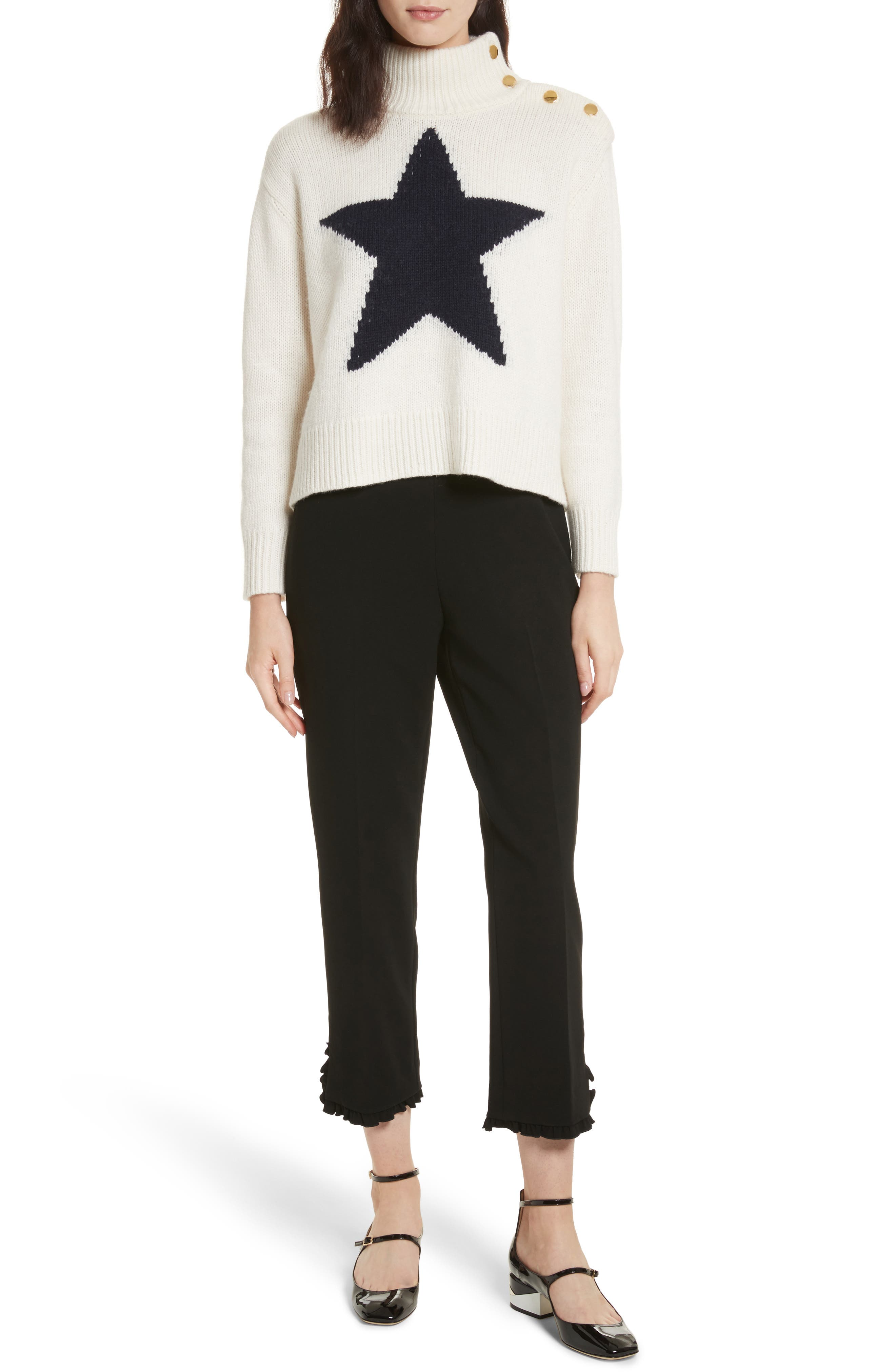 star turtleneck sweater,                             Alternate thumbnail 7, color,                             251