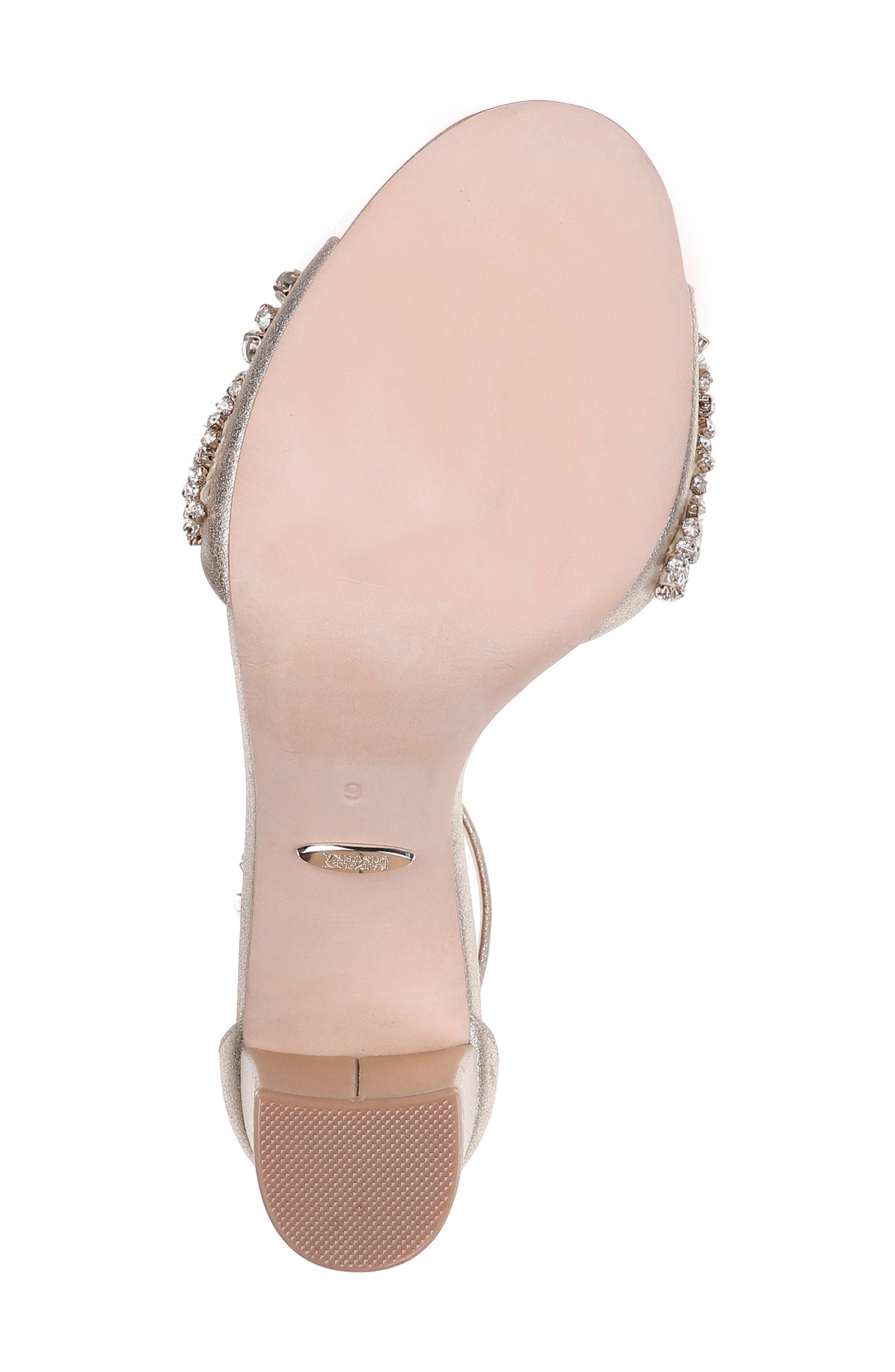 Hines Embellished Block Heel Sandal,                             Alternate thumbnail 6, color,                             040