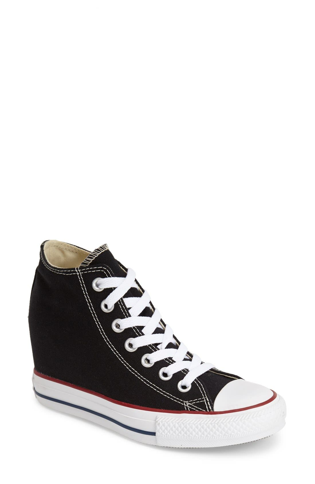 CONVERSE,                             Chuck Taylor<sup>®</sup> 'Lux Corel' High Top Sneaker,                             Main thumbnail 1, color,                             001