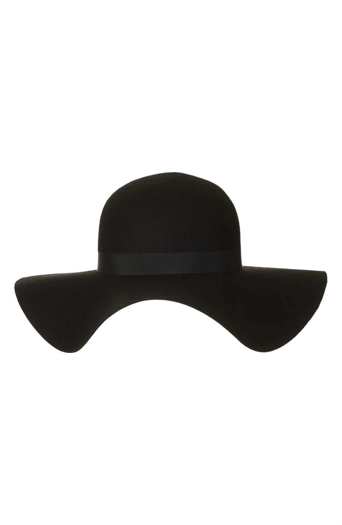 Floppy Wool Felt Hat,                             Alternate thumbnail 2, color,                             001