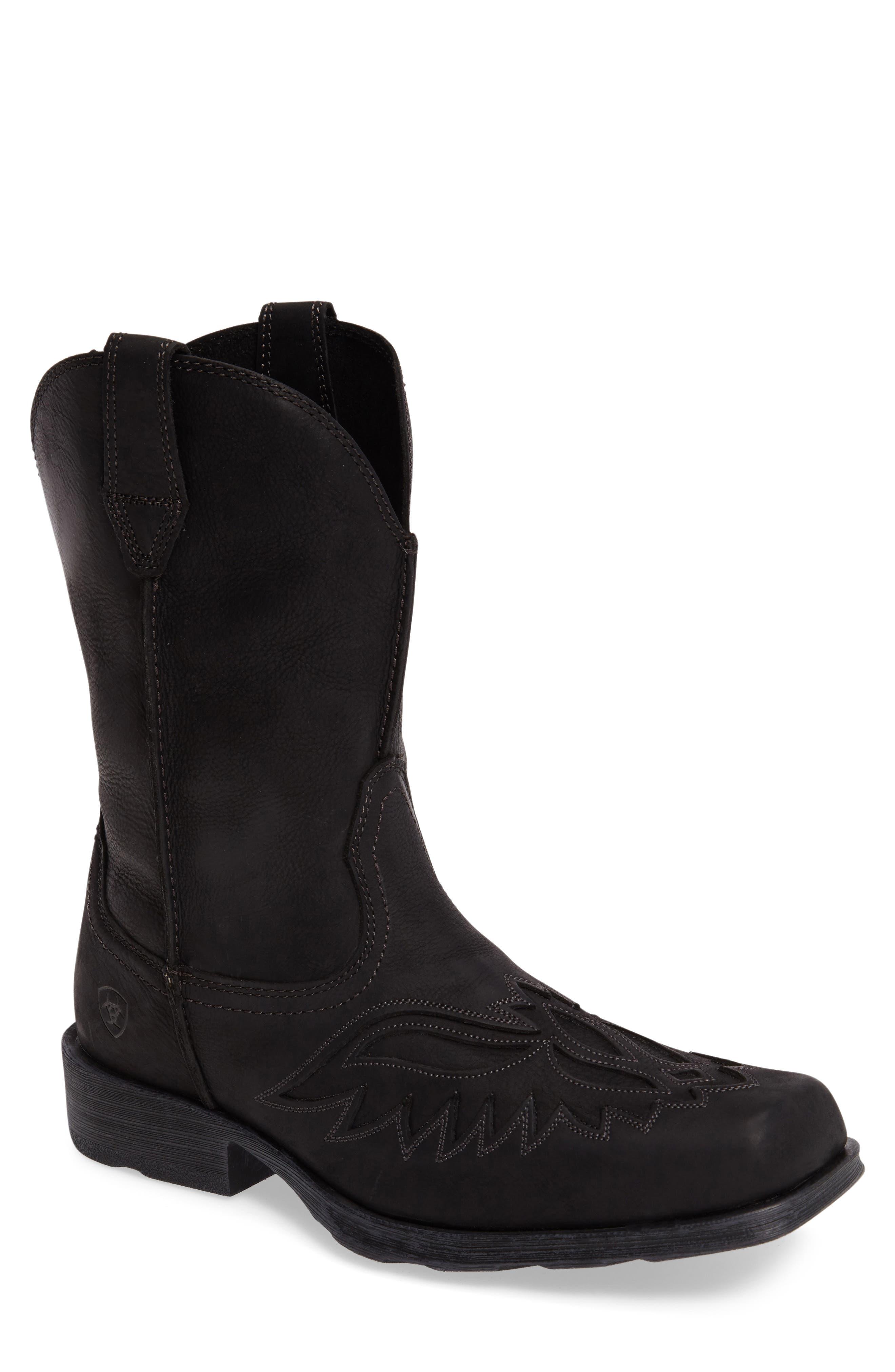 Rambler Renegade Cowboy Boot,                         Main,                         color, BLACK
