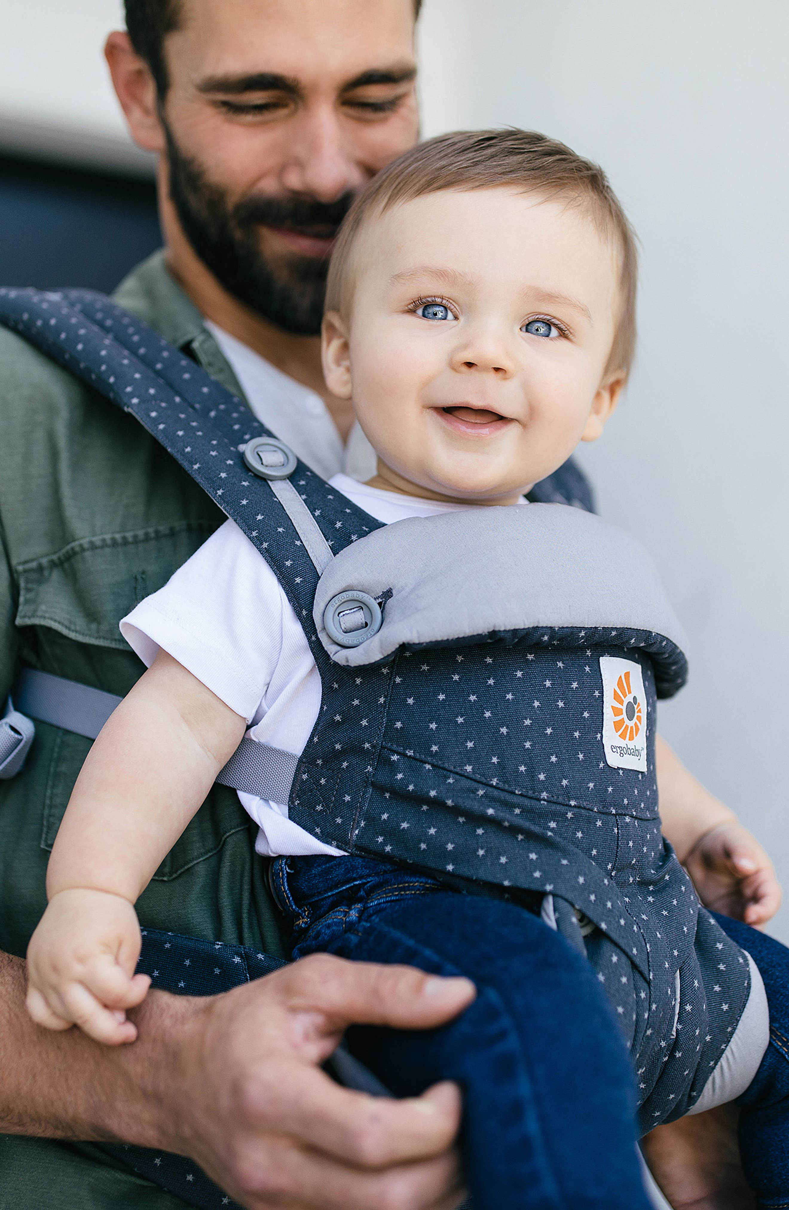 '360' Baby Carrier,                             Alternate thumbnail 5, color,                             GREY WITH STARS