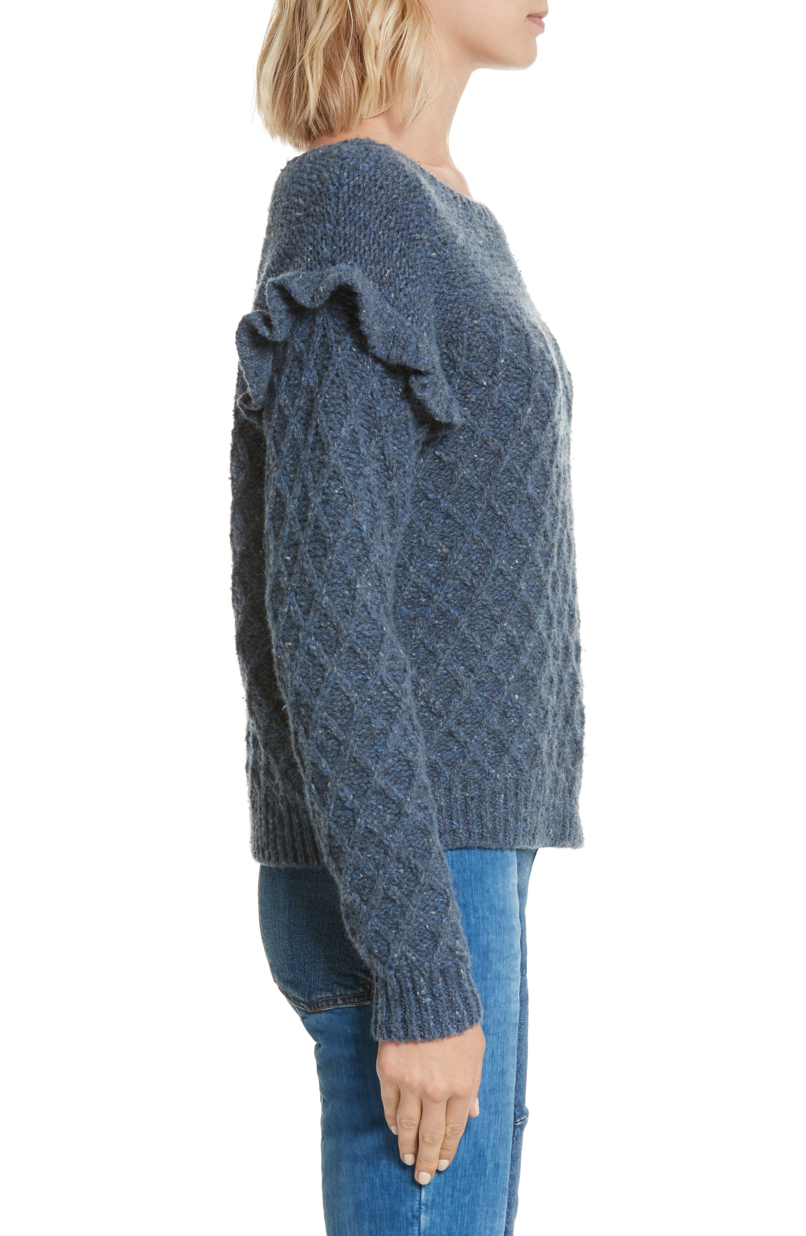Lattice Stitch Pullover,                             Alternate thumbnail 3, color,                             454
