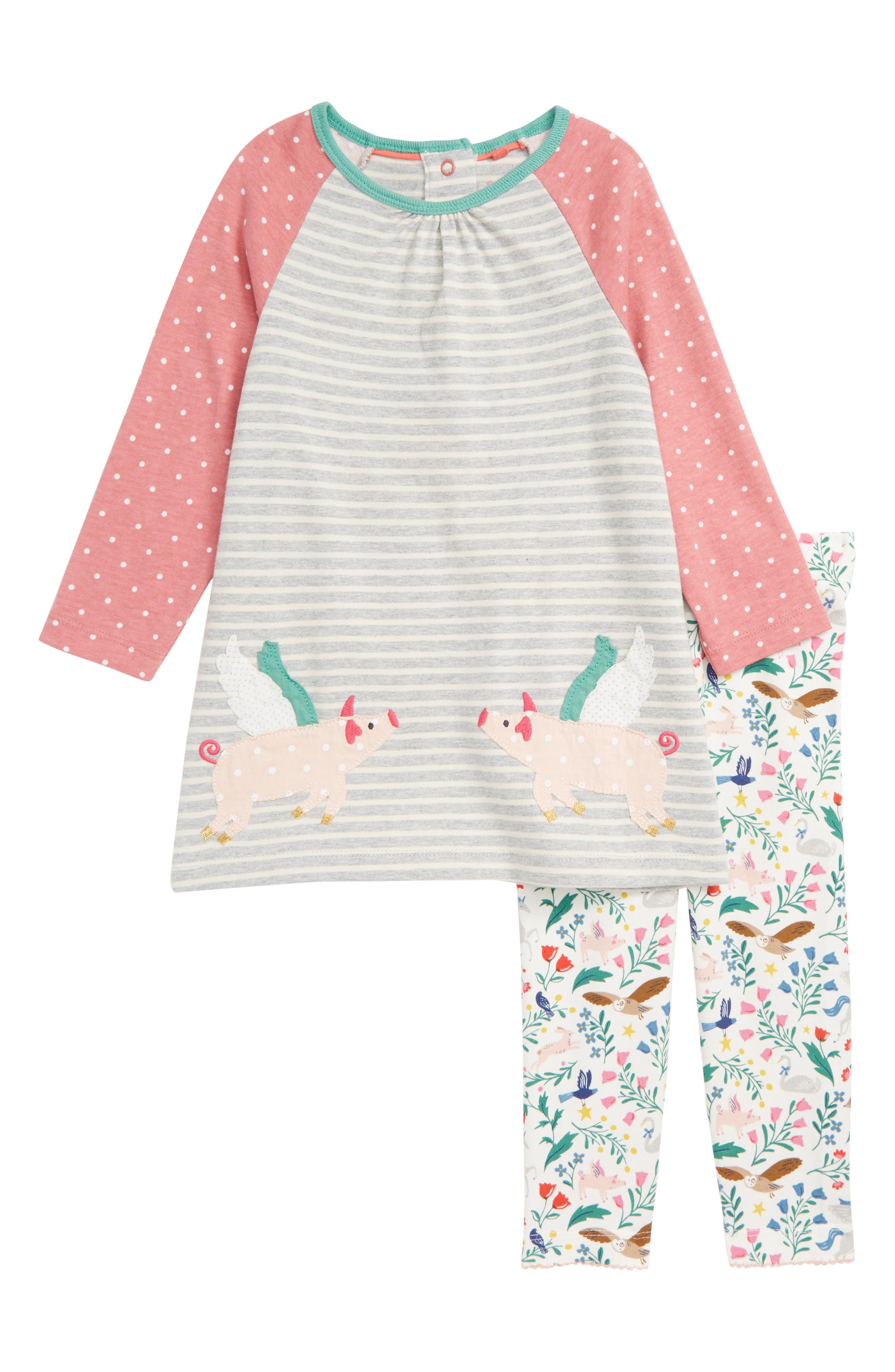 Toddler Girls Mini Boden Jersey Dress  Leggings Set