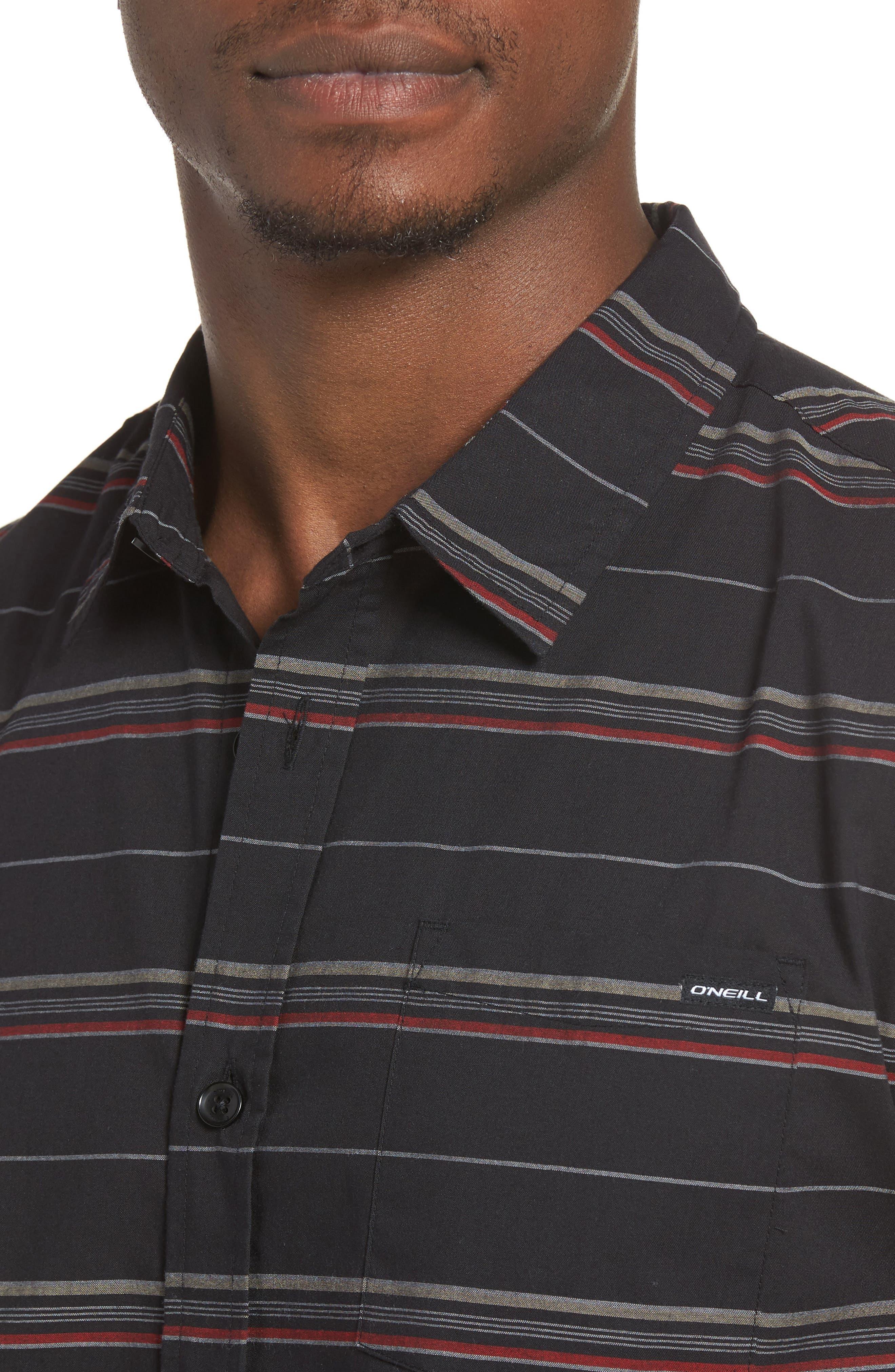 Striped Woven Shirt,                             Alternate thumbnail 11, color,