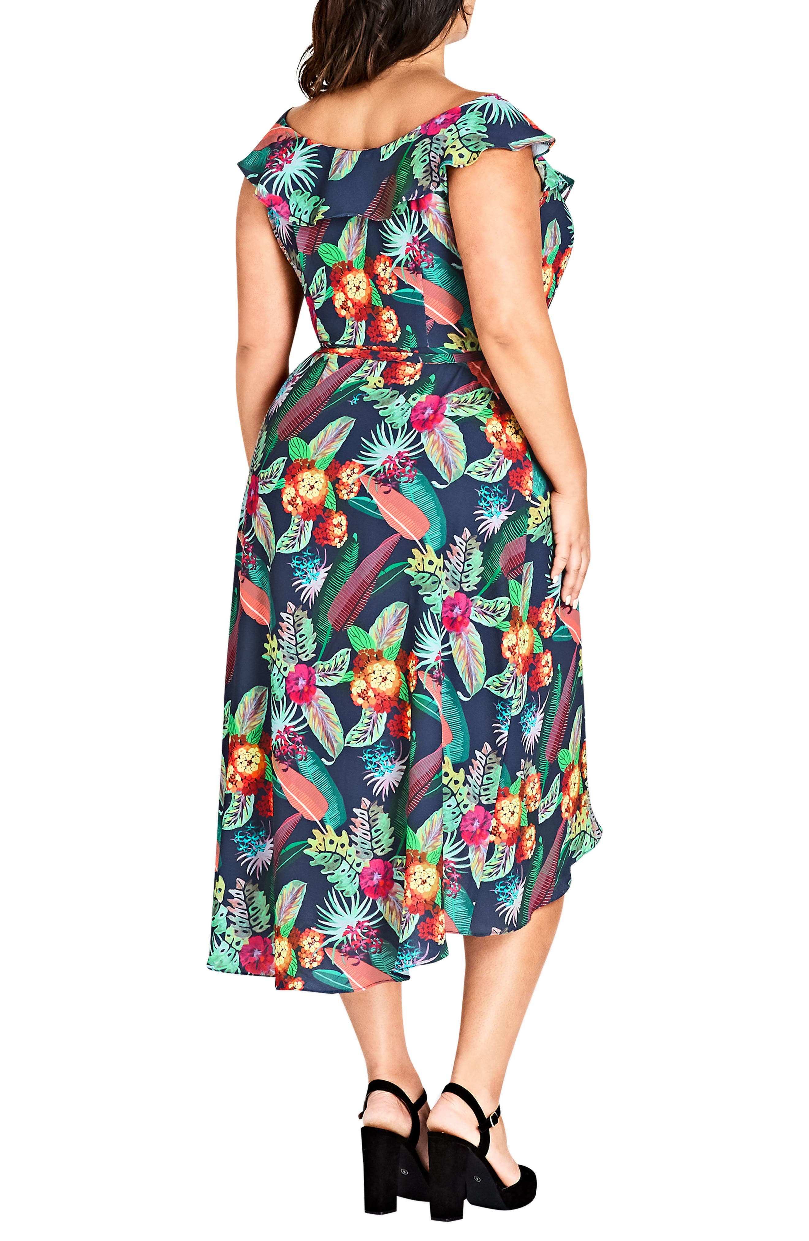 Jungle Jam High/Low Dress,                             Alternate thumbnail 2, color,                             425