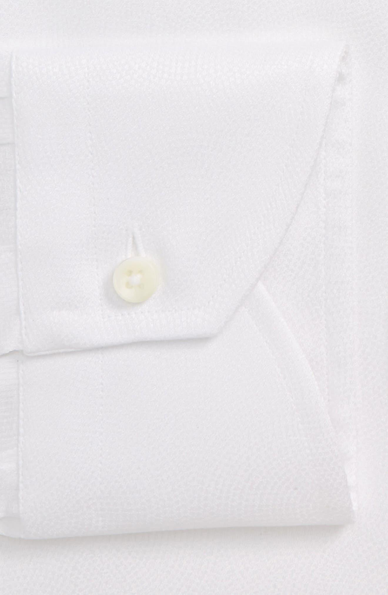 Trim Fit Solid Dress Shirt,                             Alternate thumbnail 7, color,                             WHITE