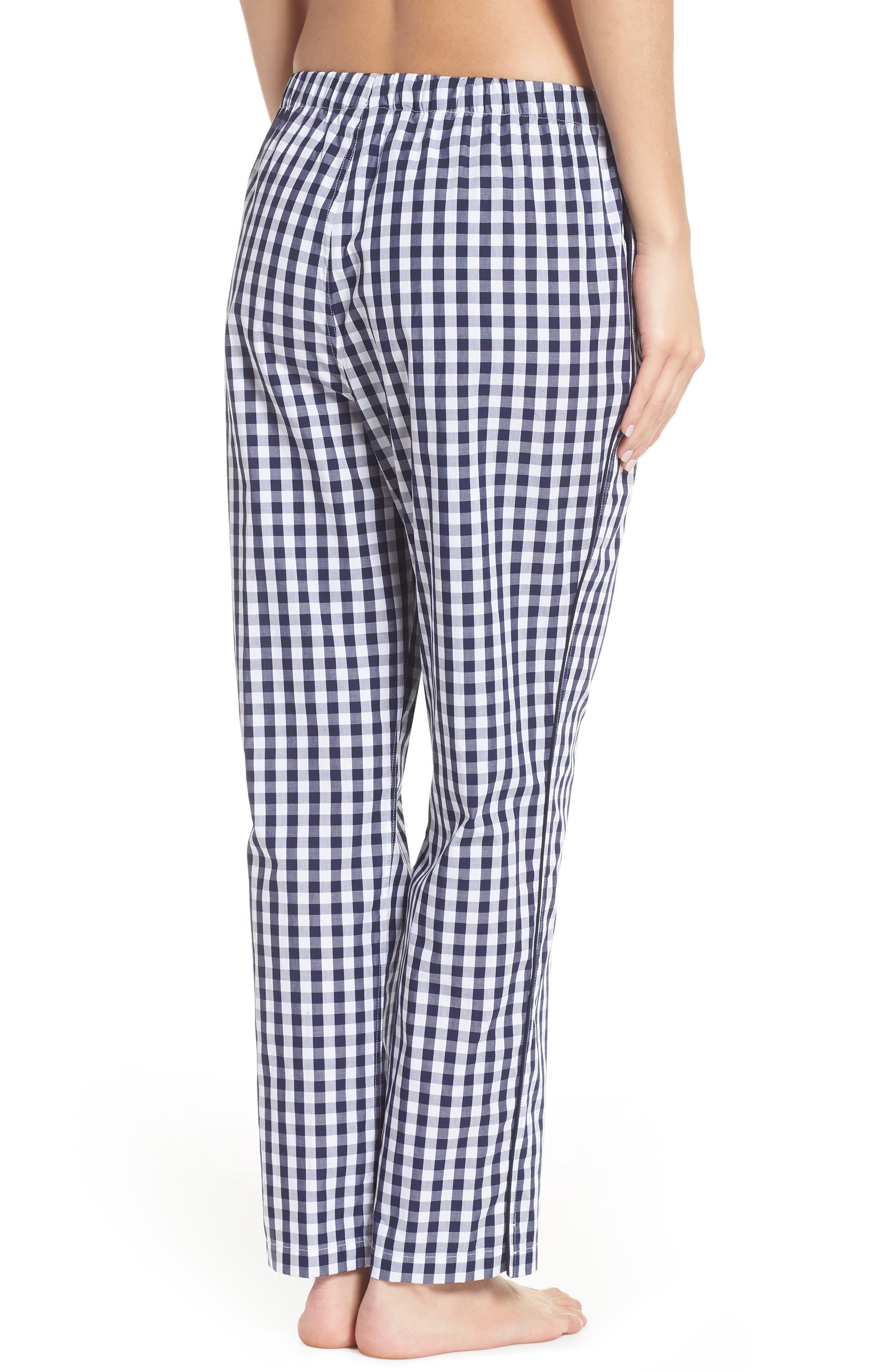 Marina Women's Pajama Pants,                             Alternate thumbnail 3, color,                             LARGE GINGHAM BLUE