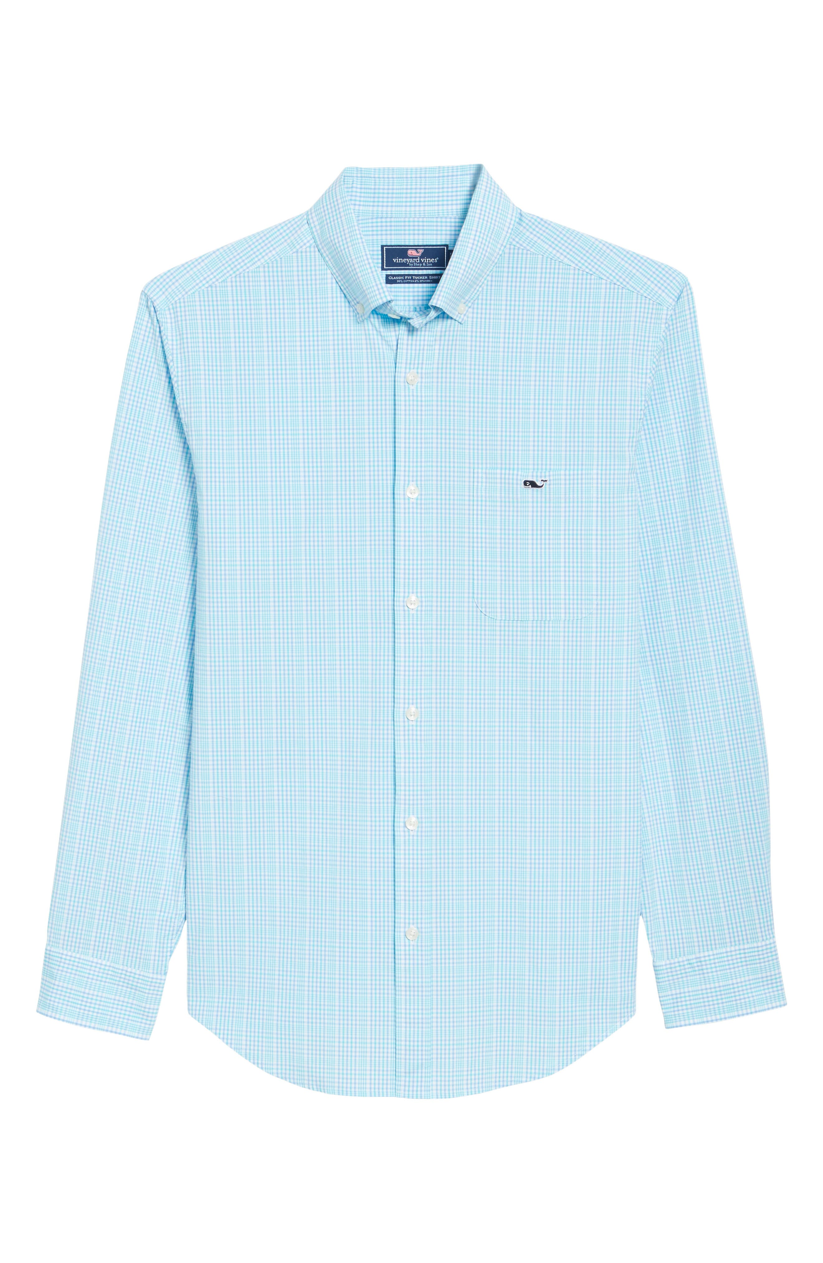 Rolling Harbor Classic Fit Plaid Sport Shirt,                             Alternate thumbnail 6, color,                             459
