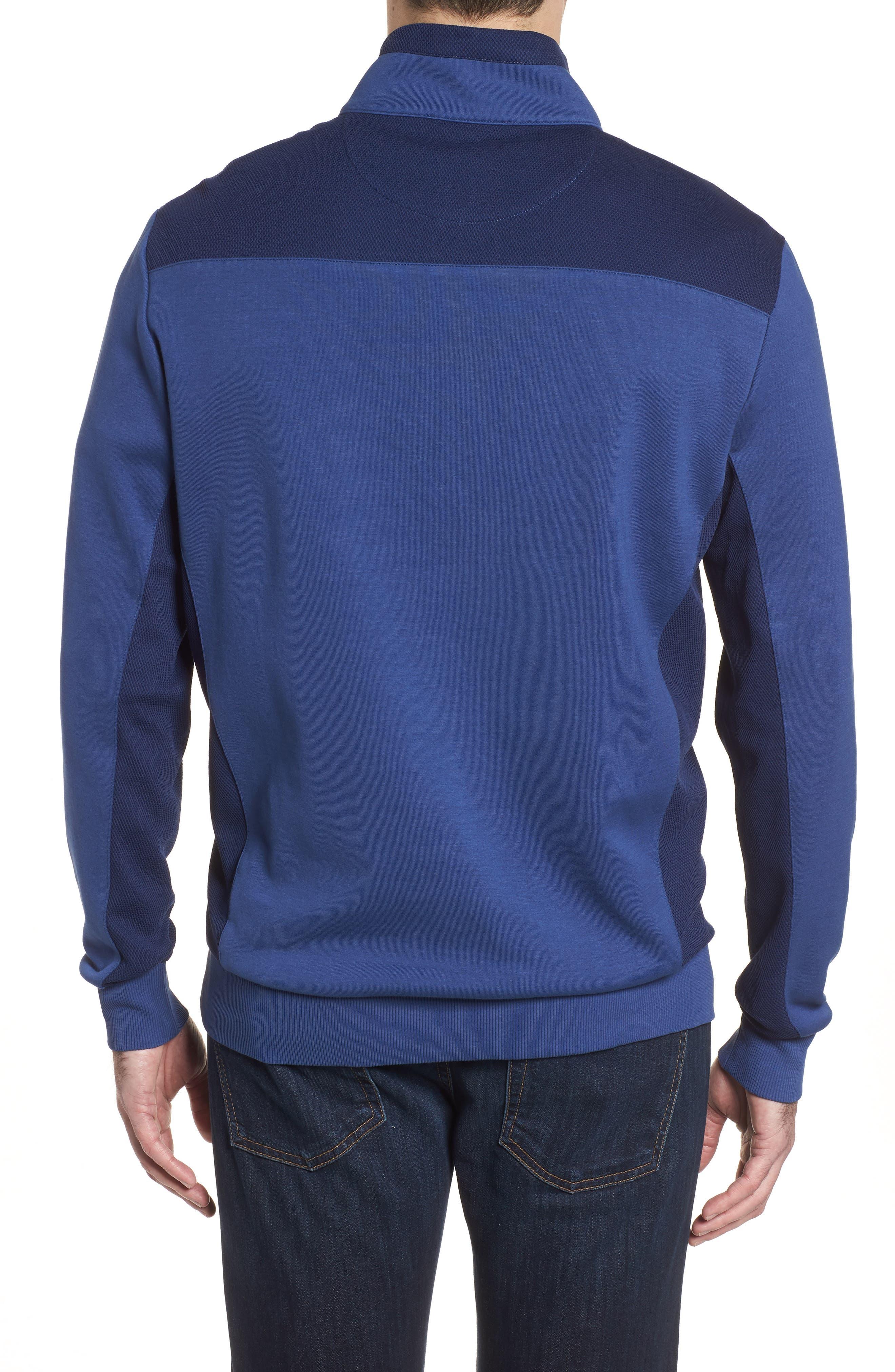 Regular Fit Knit Quarter Zip Pullover,                             Alternate thumbnail 6, color,