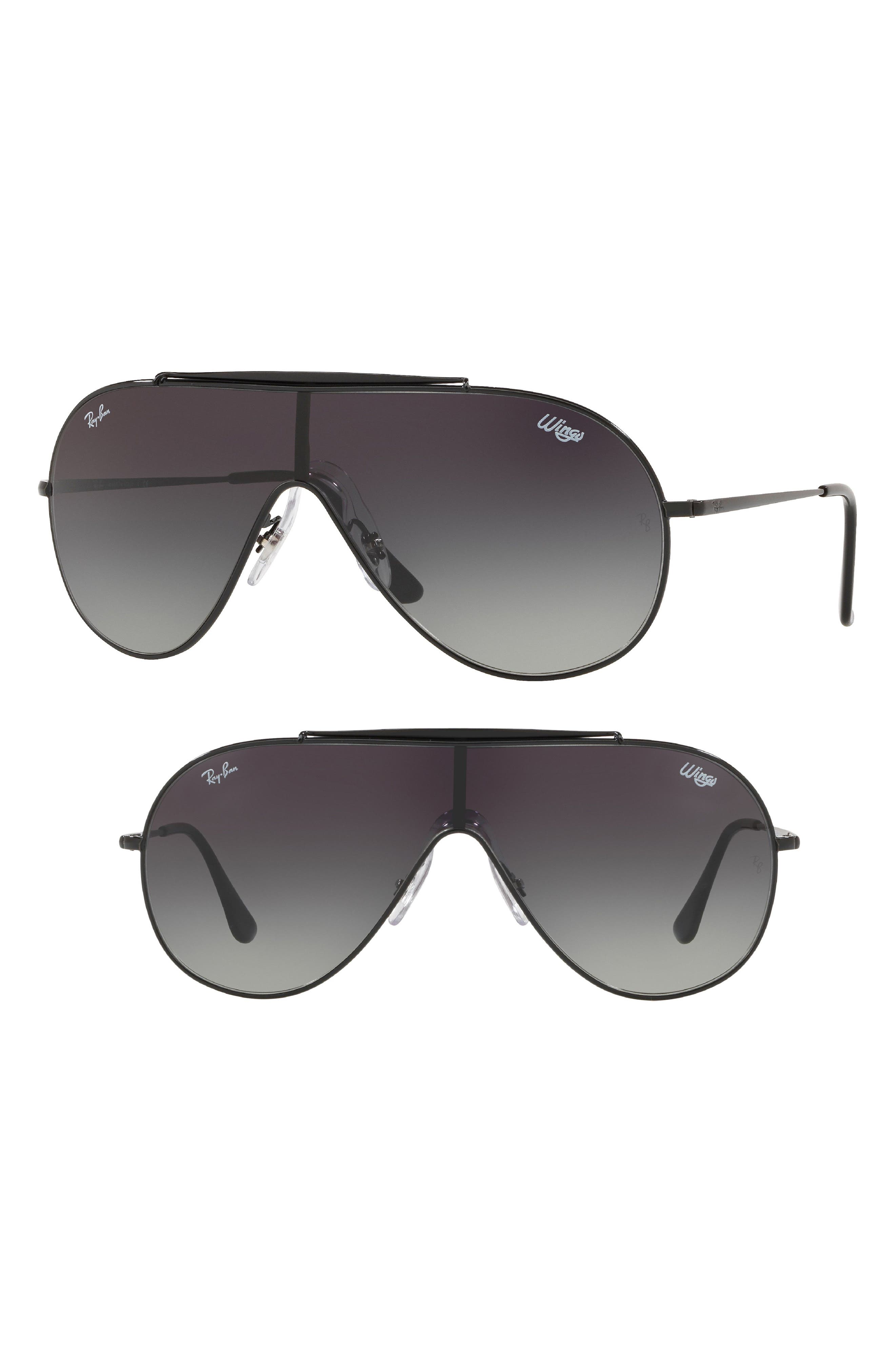 133mm Shield Sunglasses,                             Main thumbnail 1, color,                             001