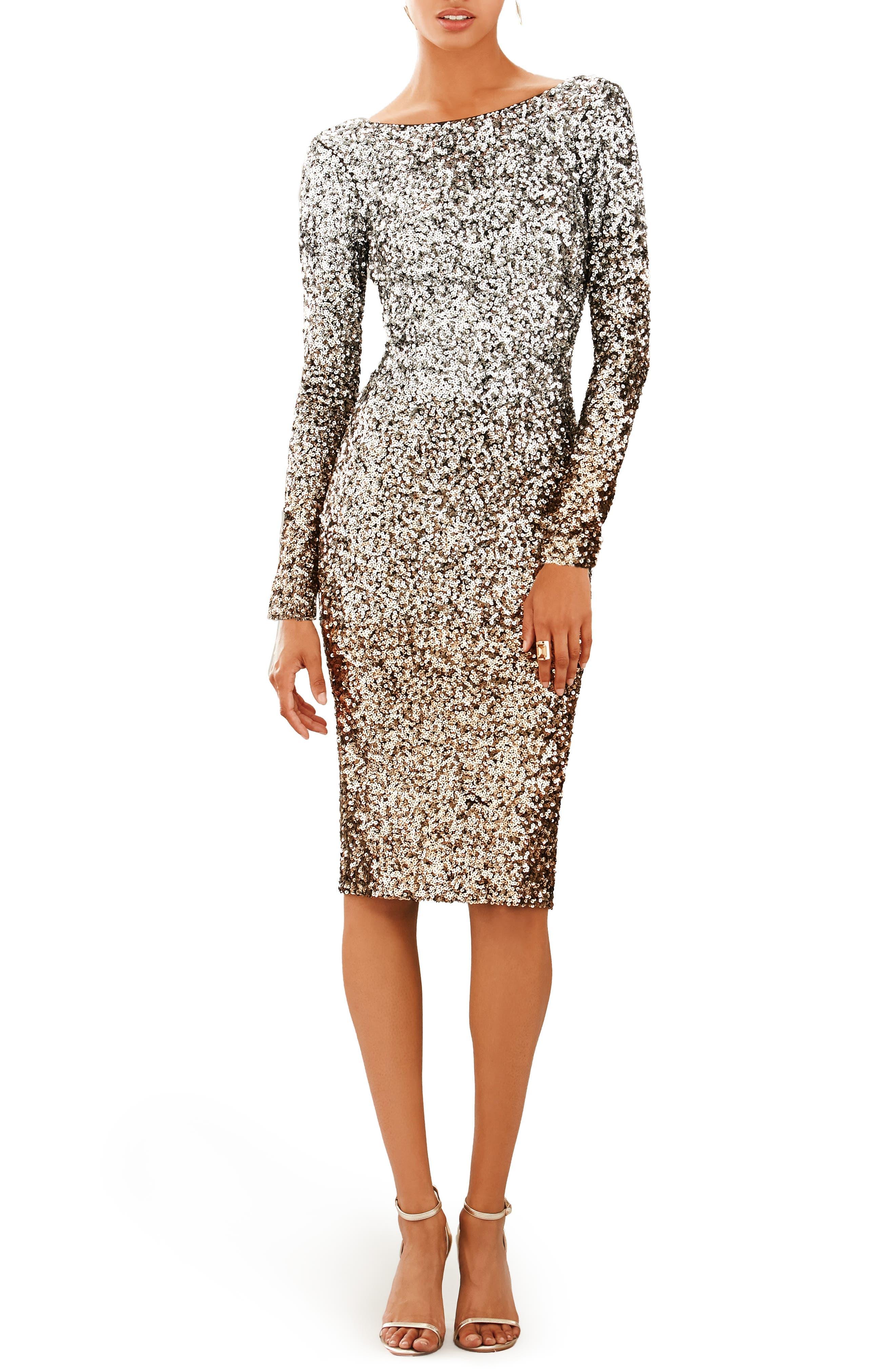 Emery Ombré Sequin Body-Con Dress,                         Main,                         color, 045