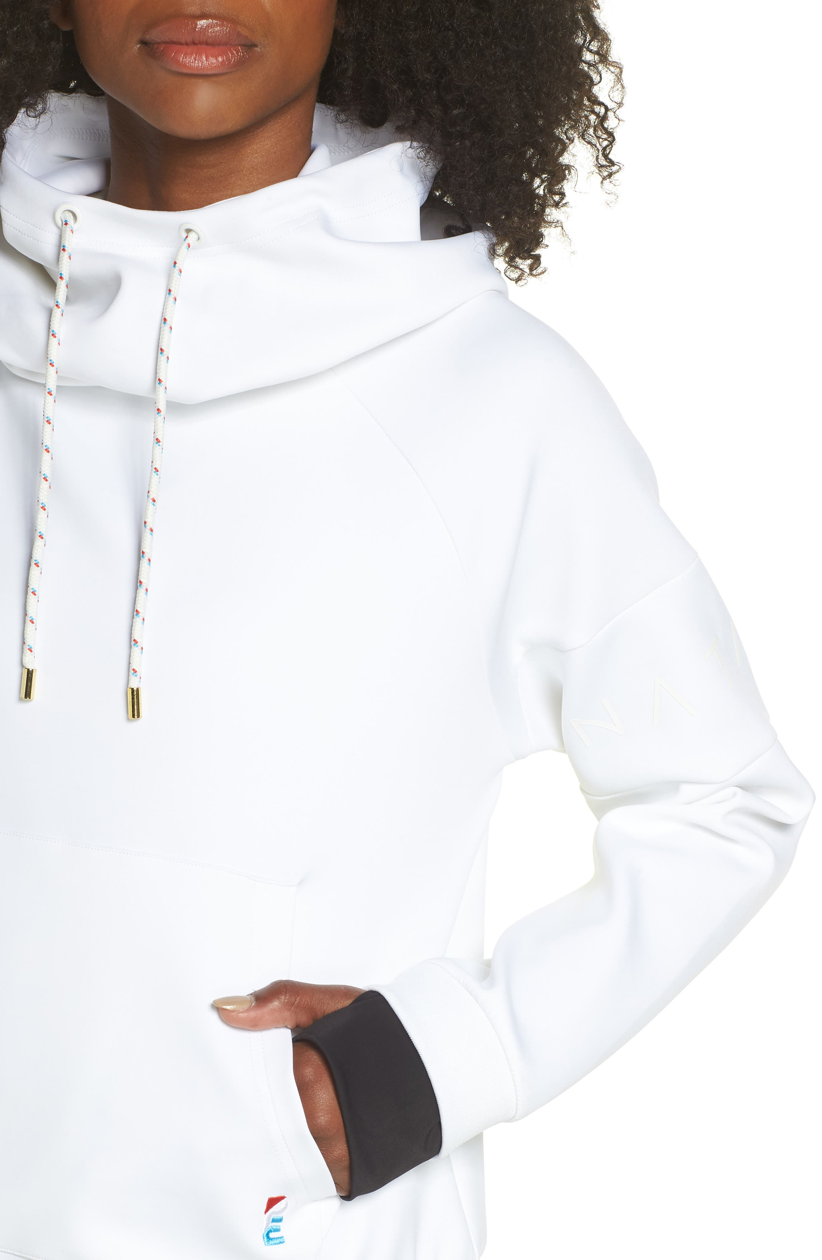 The Defender Ace Hoodie,                             Alternate thumbnail 4, color,                             WHITE