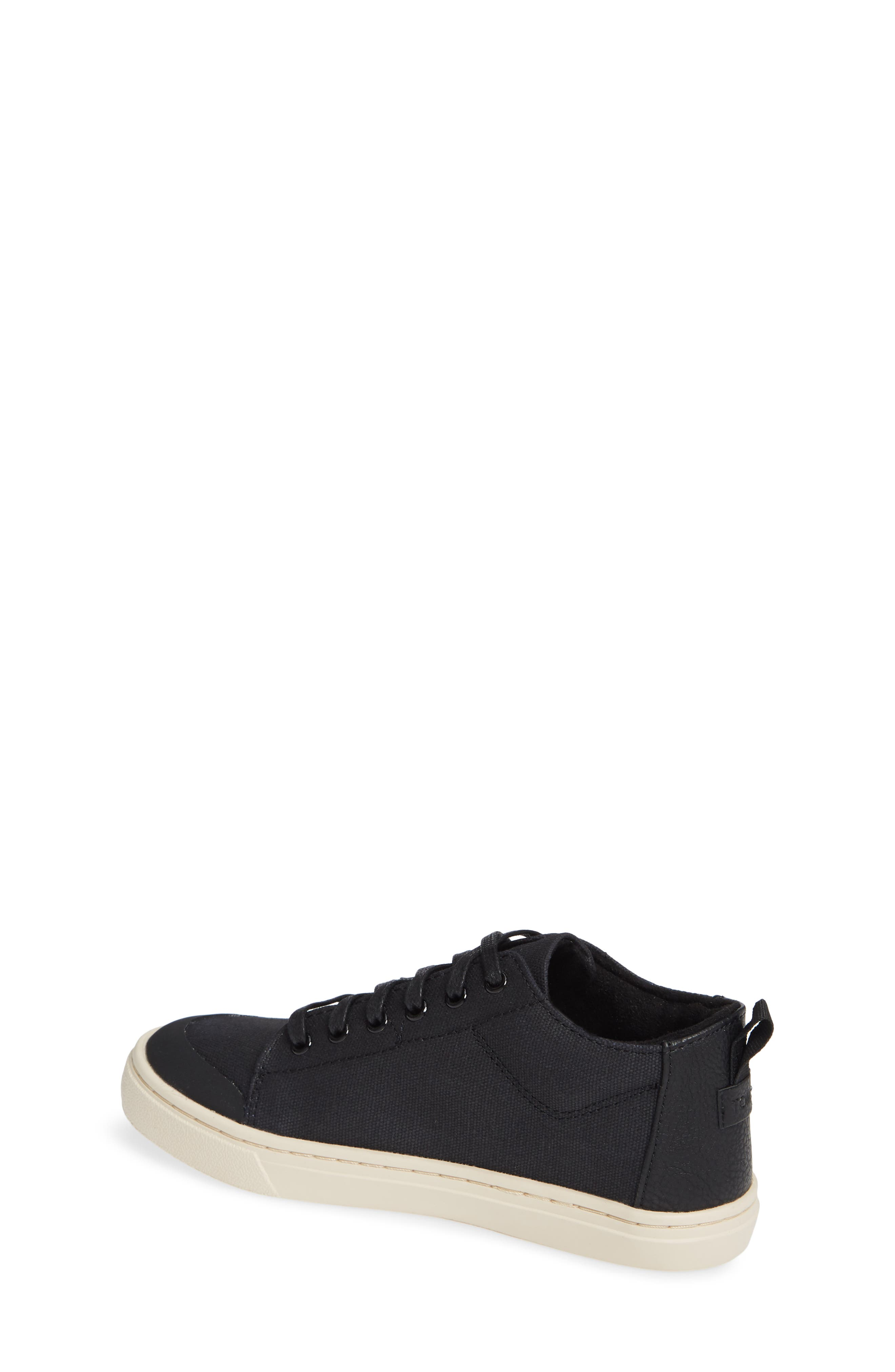 Lenny Mid Top Sneaker,                             Alternate thumbnail 2, color,                             BLACK TEXTURAL CANVAS
