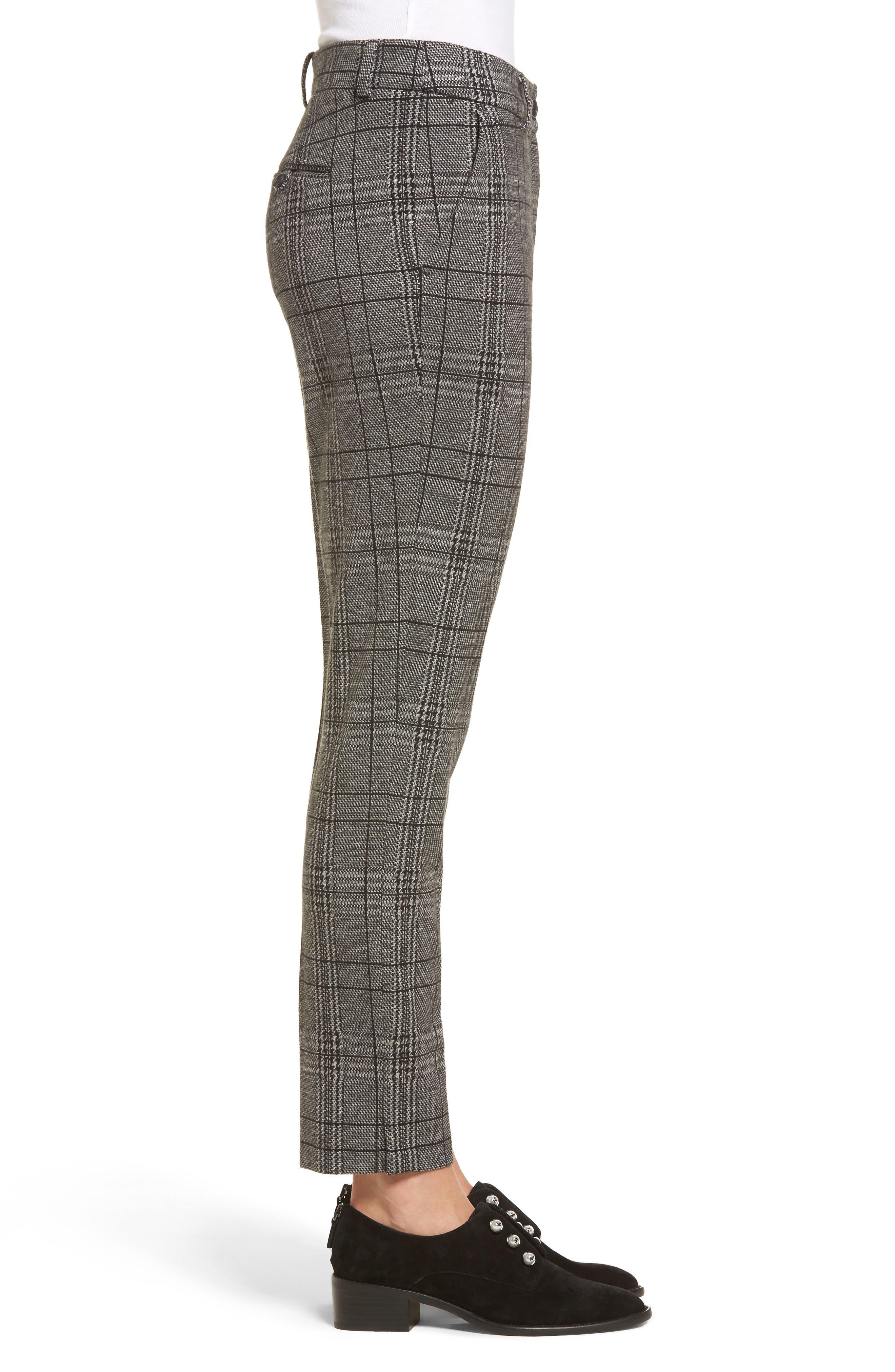Check Plaid Trousers,                             Alternate thumbnail 3, color,                             002