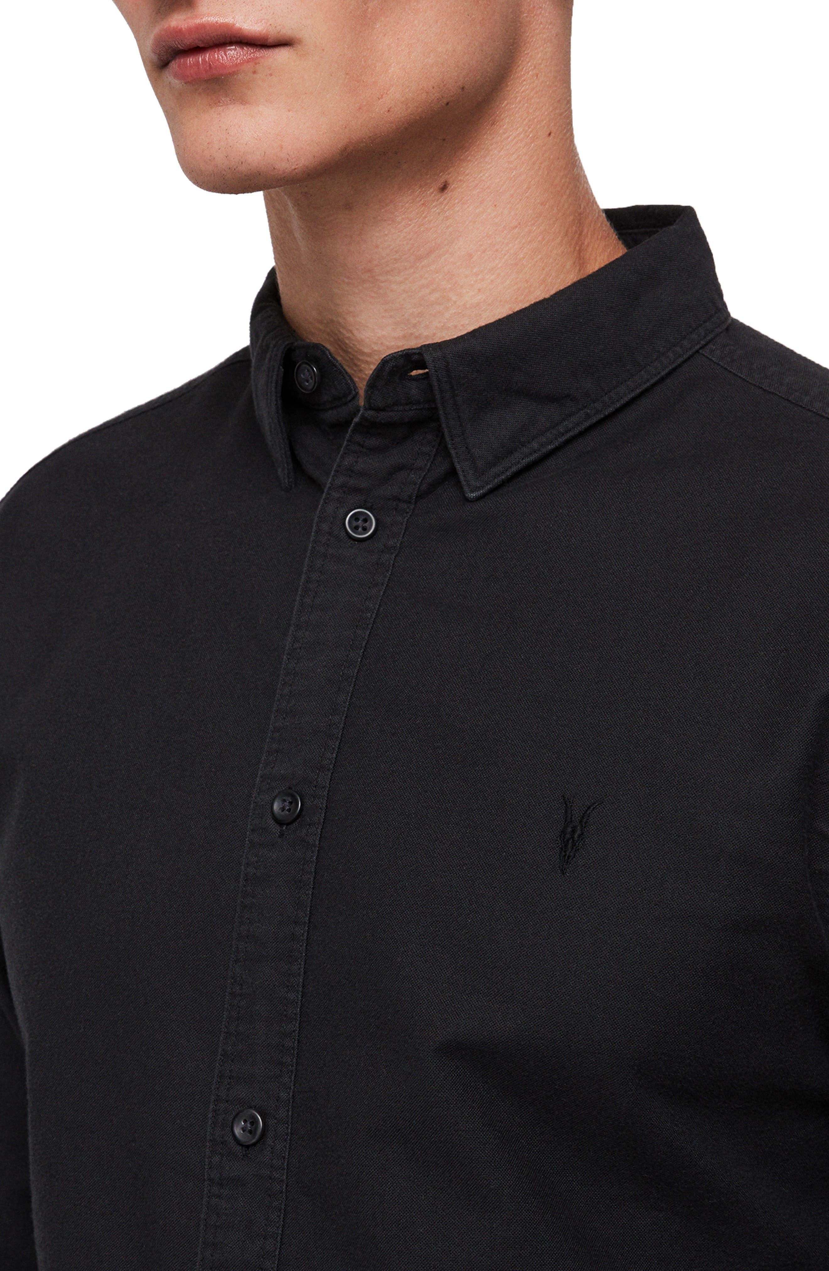 Huntington Regular Fit Sport Shirt,                             Alternate thumbnail 2, color,                             BLACK