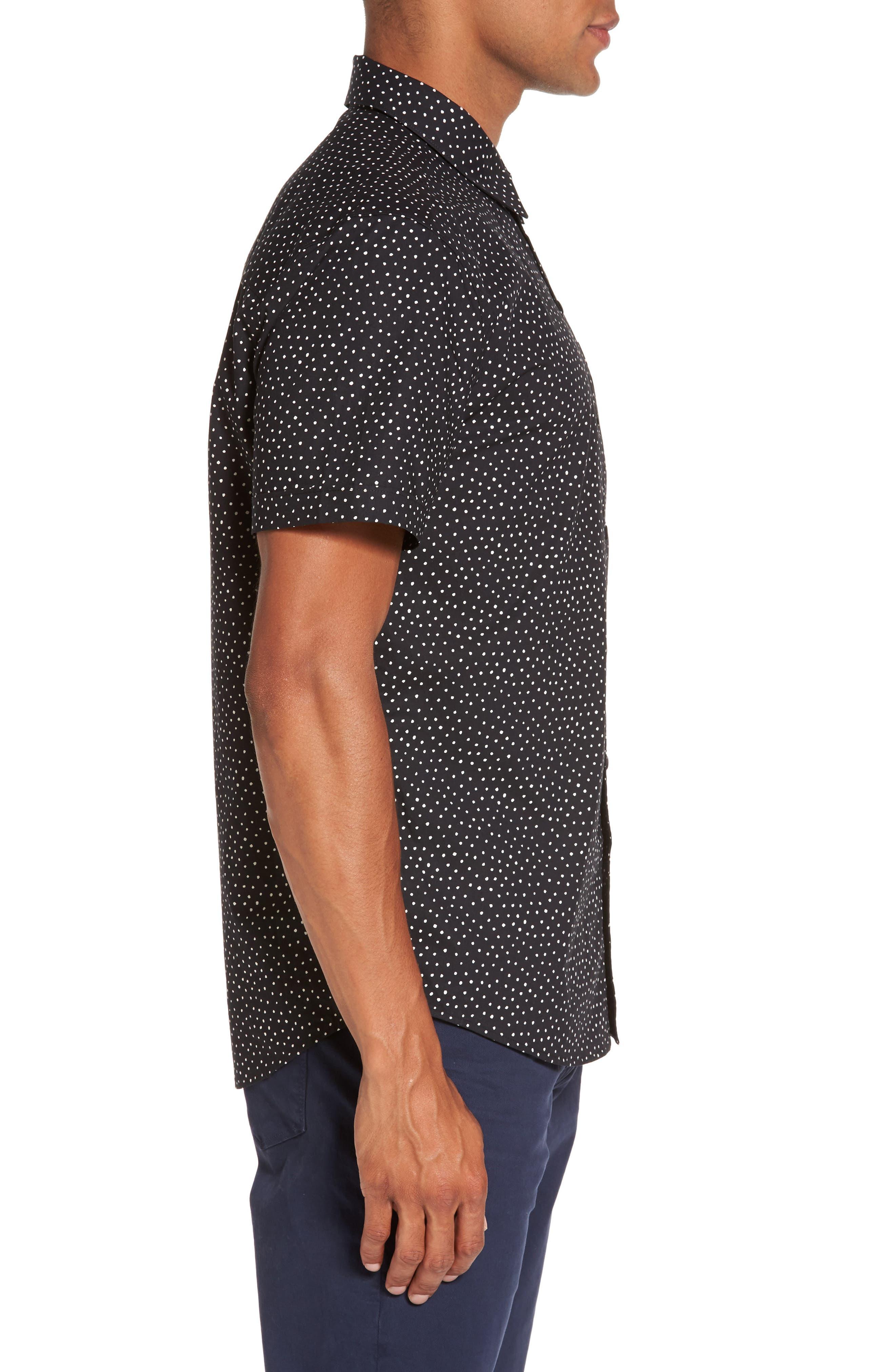 Becker Dot Print Woven Shirt,                             Alternate thumbnail 5, color,